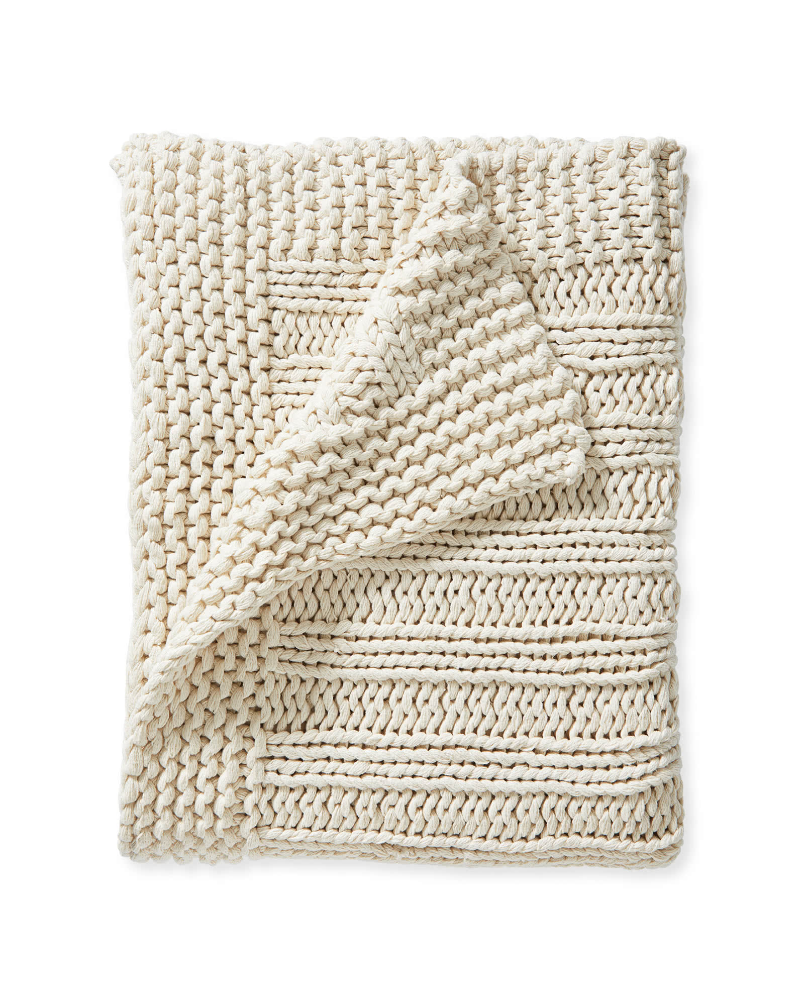 Sequoia Cotton Throw, Ivory