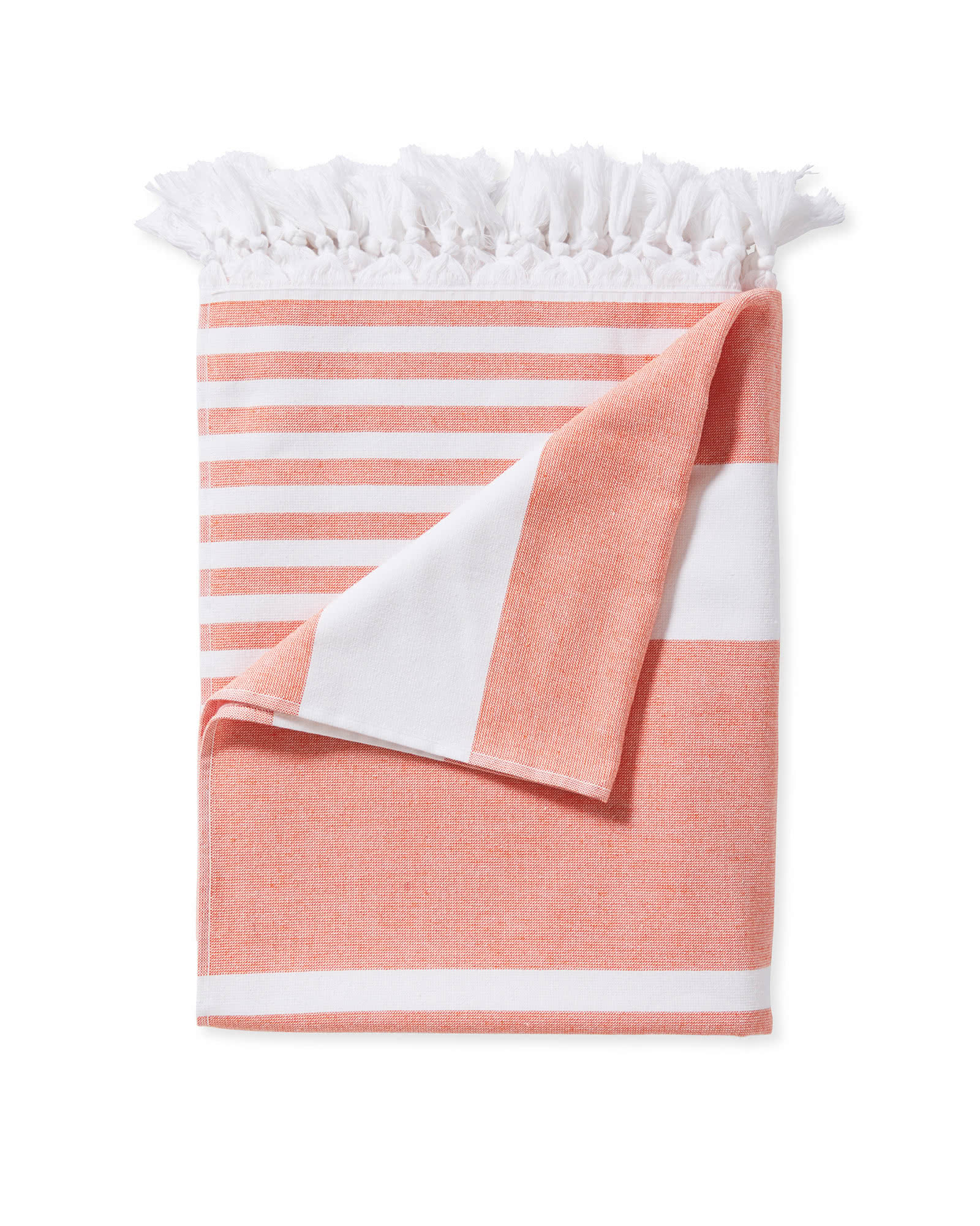 Capri Fouta Beach Towel, Papaya