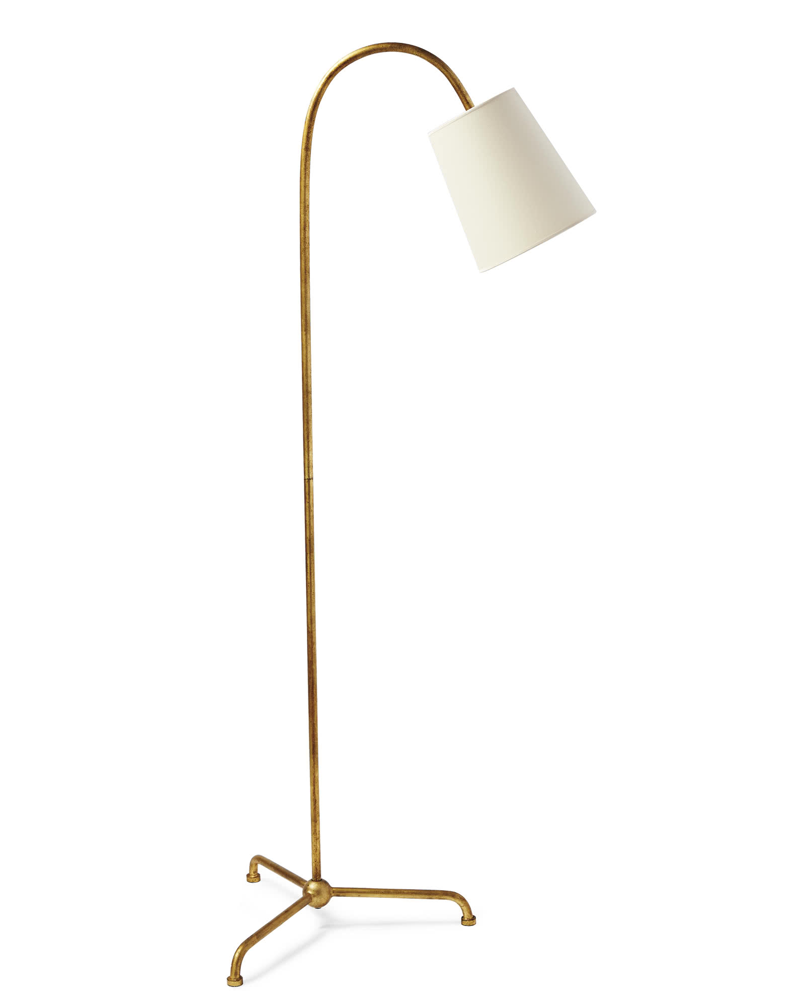 Preston Floor Lamp, Gilded