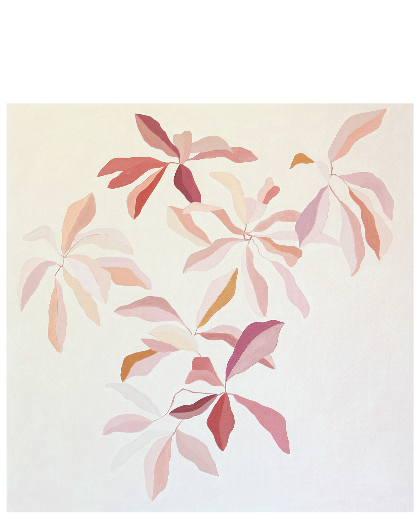 """""""Oak Leaves in Sienna and Ginger"""" by Katherine George,"""
