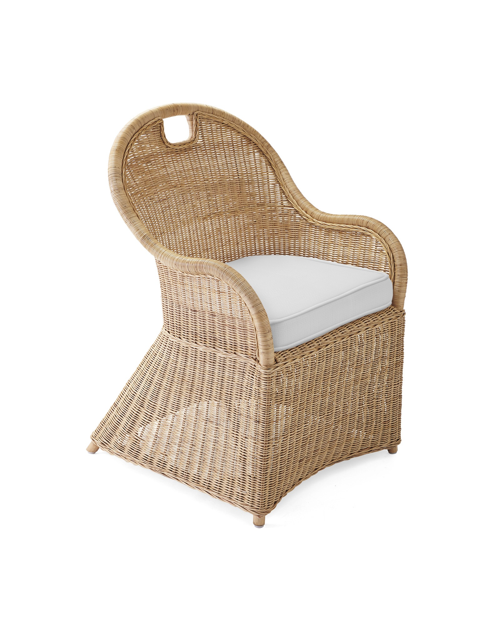 Cushion Cover for Shore Dining Chair, Perennials Basketweave White