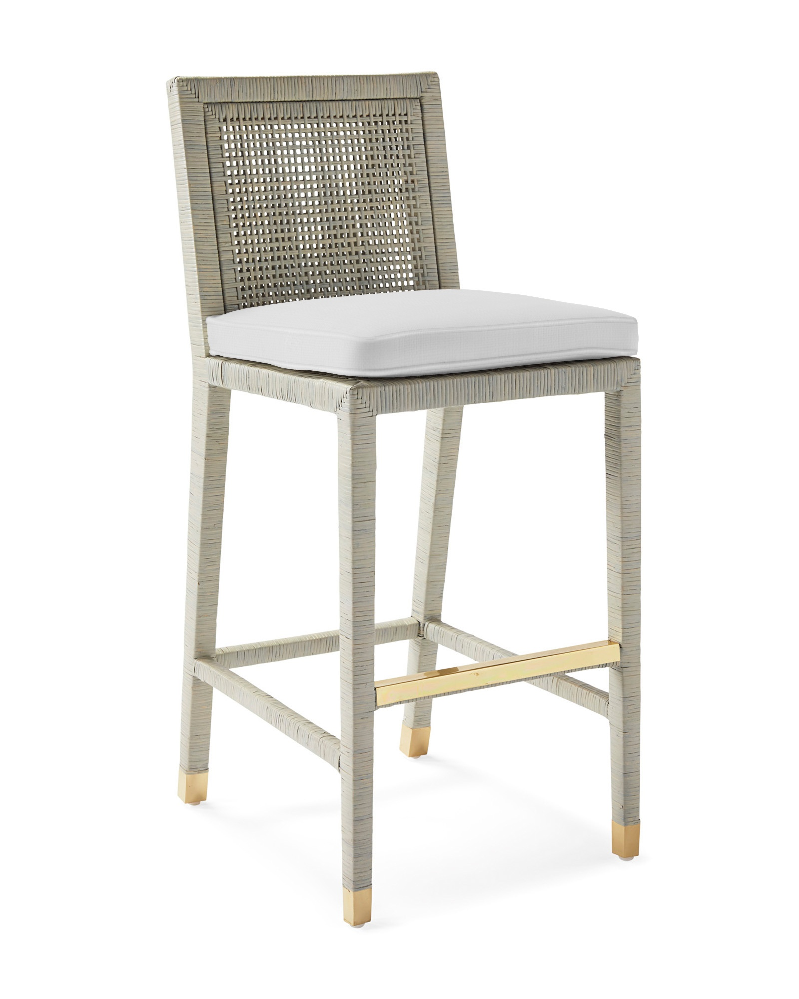 Cushion Cover for Balboa Barstool - Mist, Perennials Basketweave White