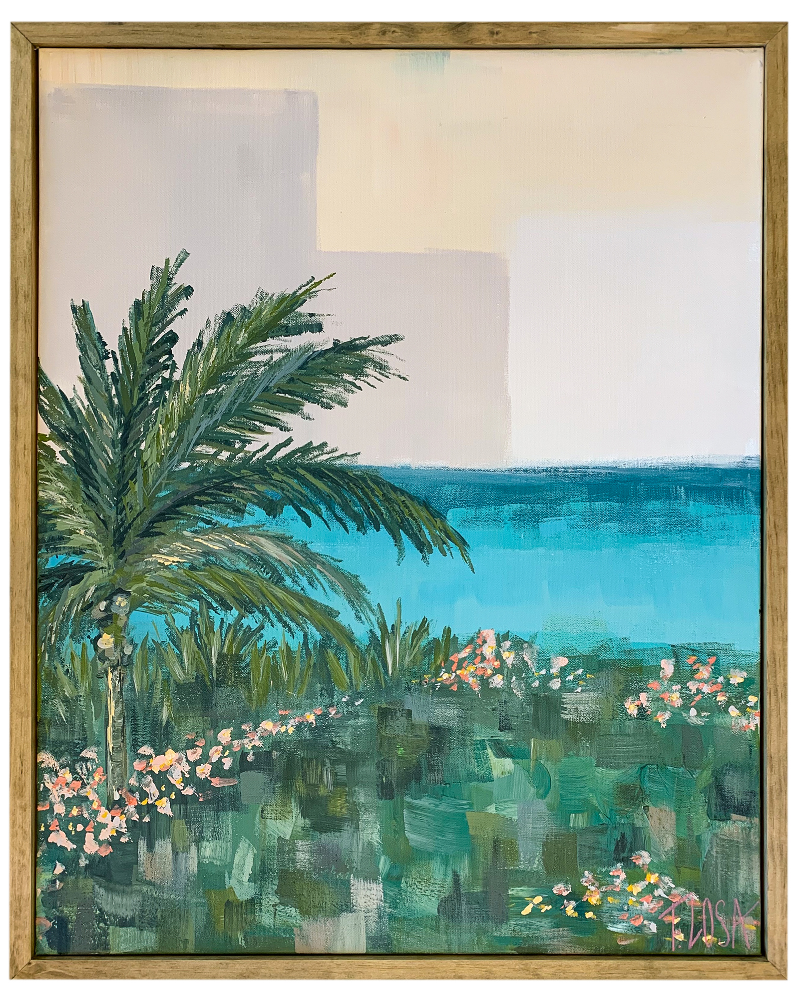 """Tropical View"" by Theresa Losa,"