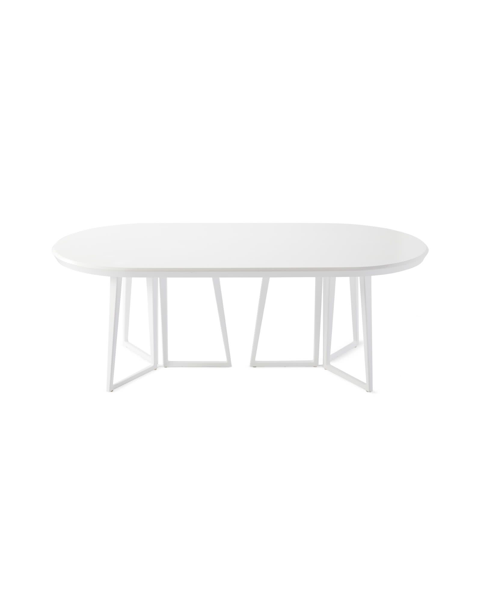 Downing Oval Dining Table, White
