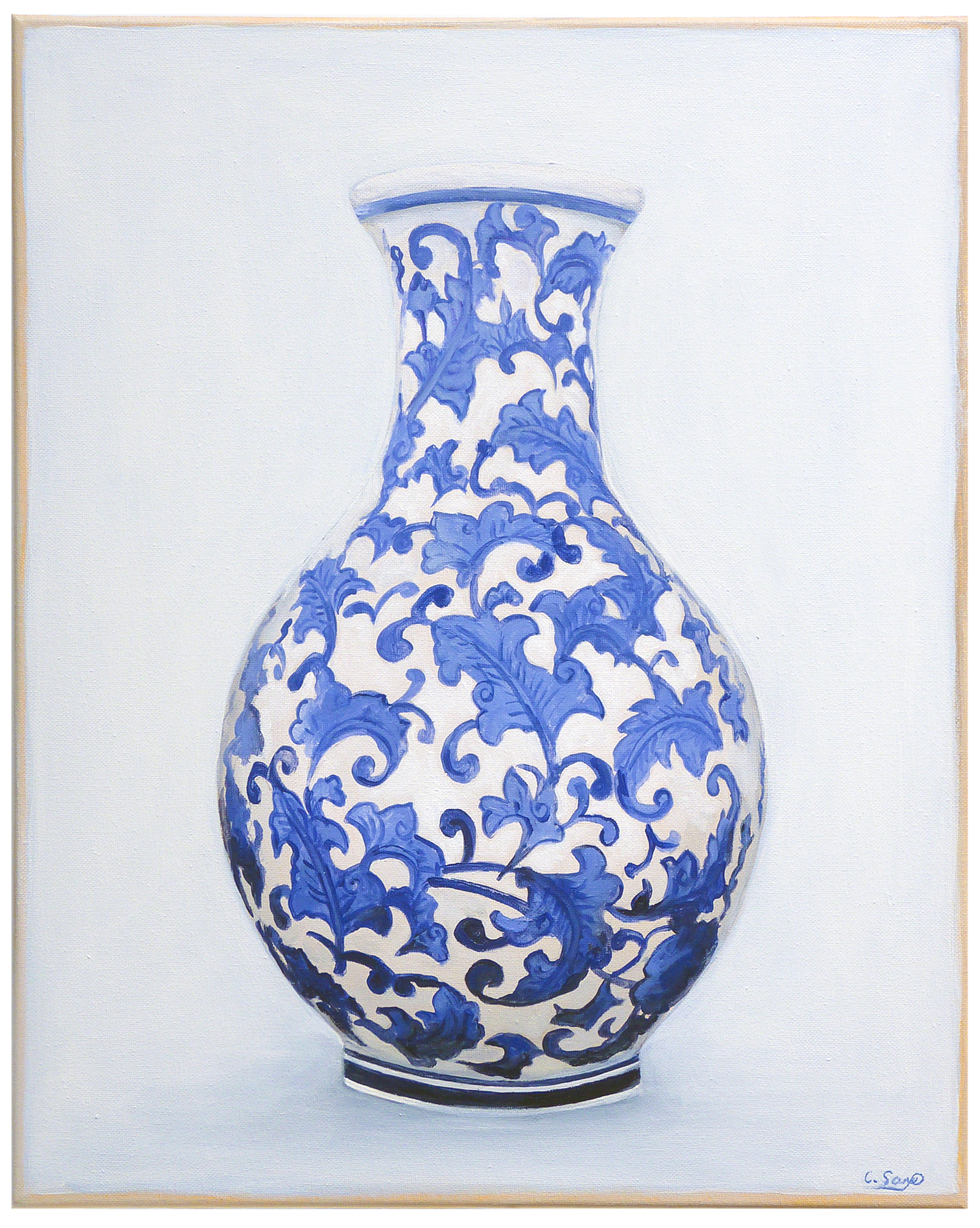 """""""Chinoiserie Vase"""" by Carol Saxe,"""