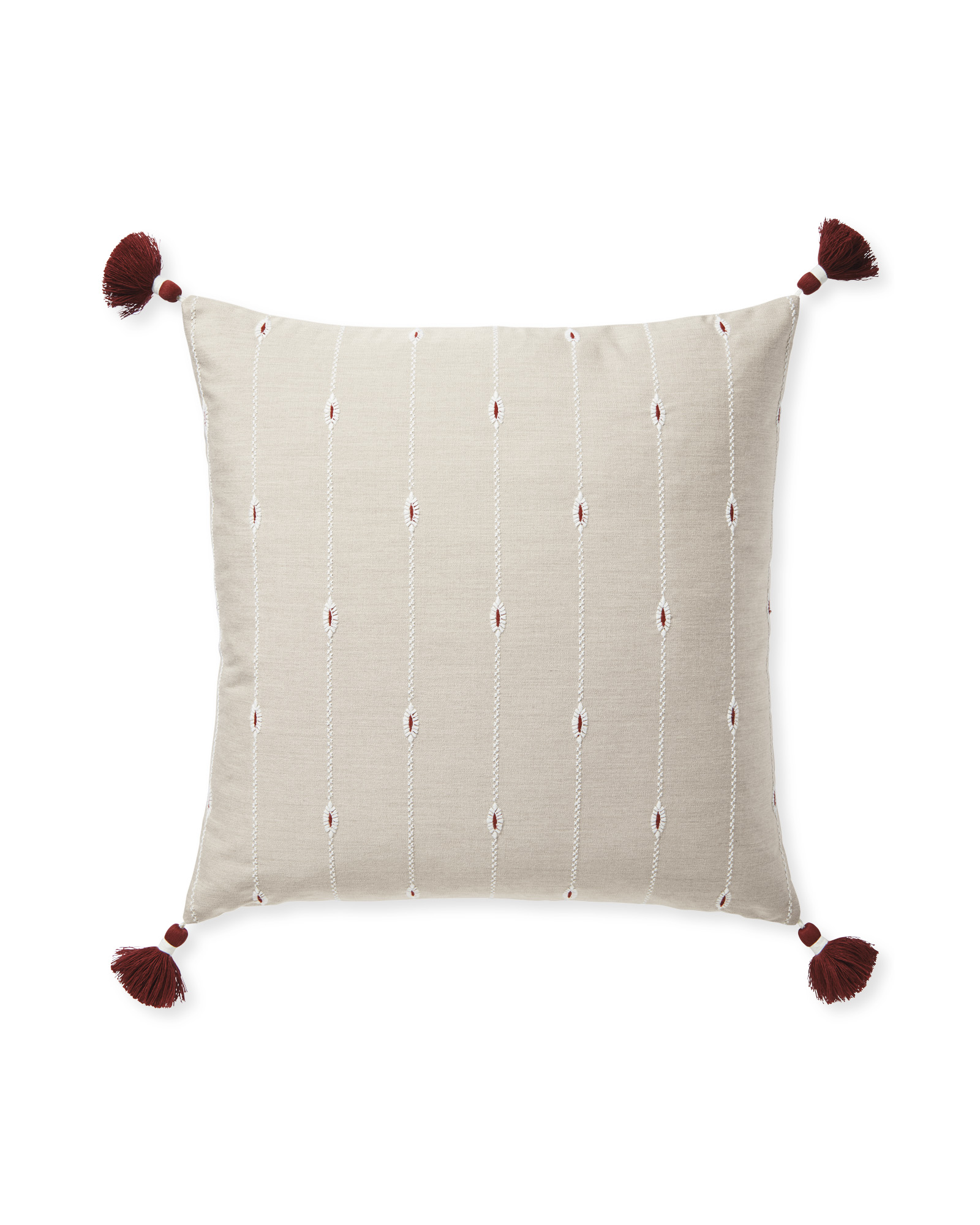 Rivoli Pillow Cover - Flax/Terracotta,
