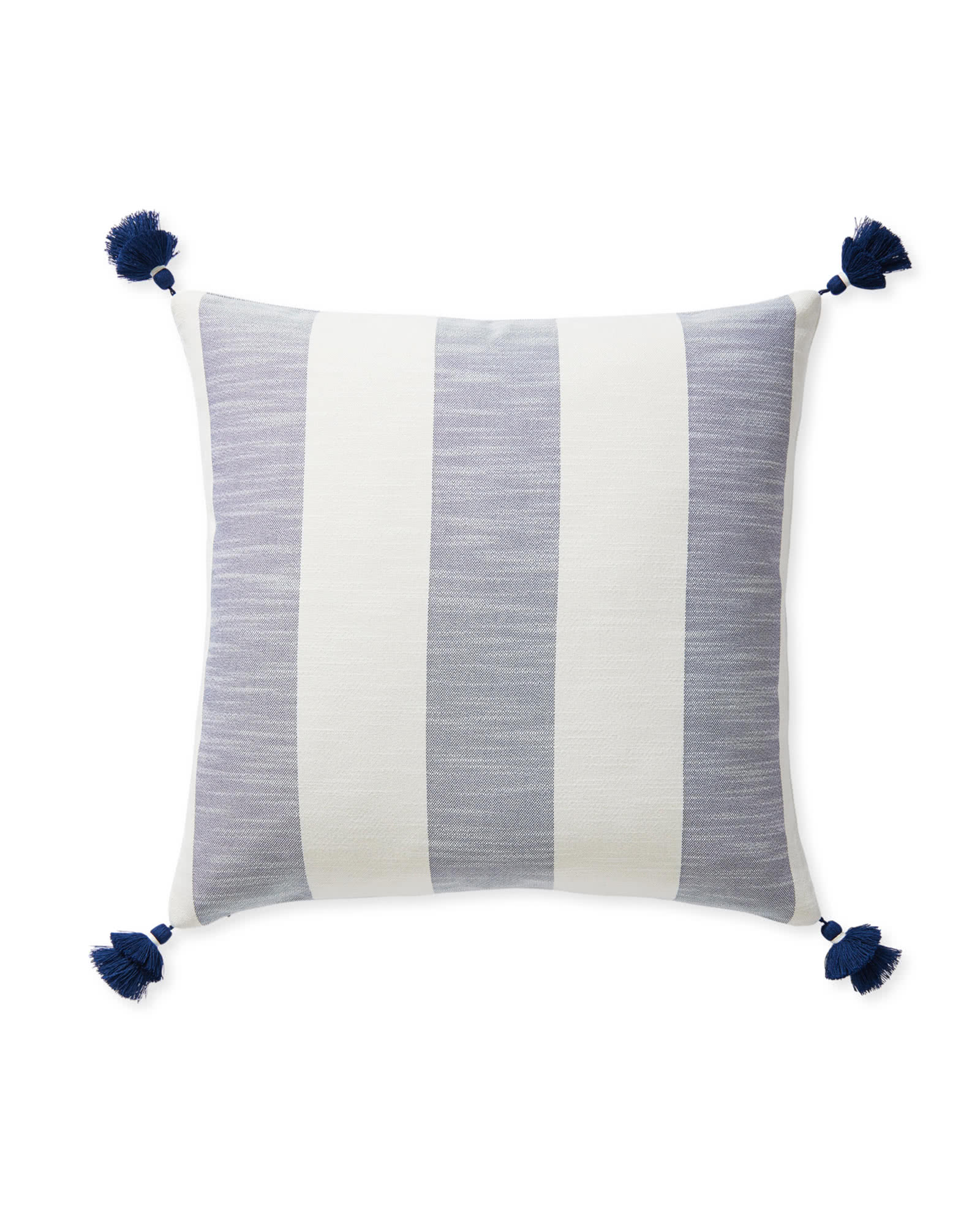Beach Stripe Pillow Cover, Navy