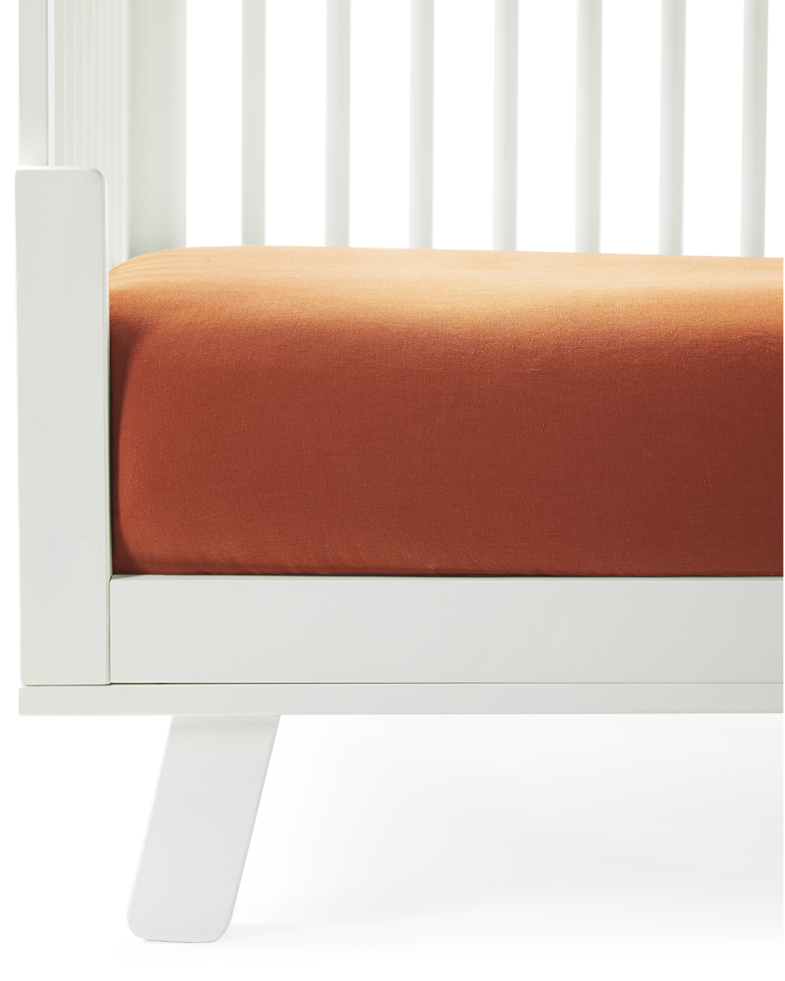 Positano Linen Crib Sheet, Terracotta