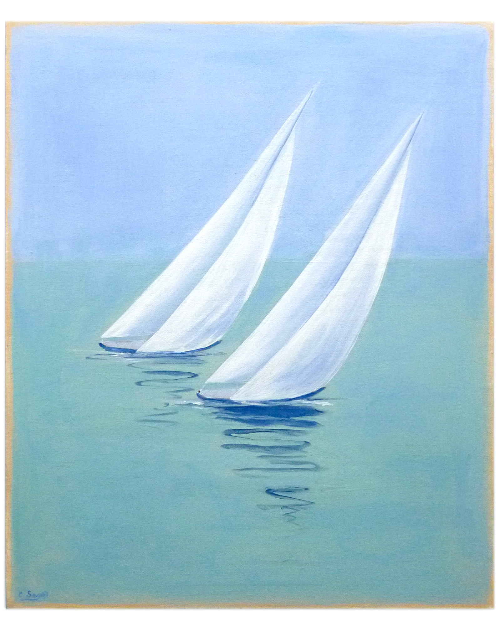 """"""" Large Taking Boats"""" by Carol Saxe,"""