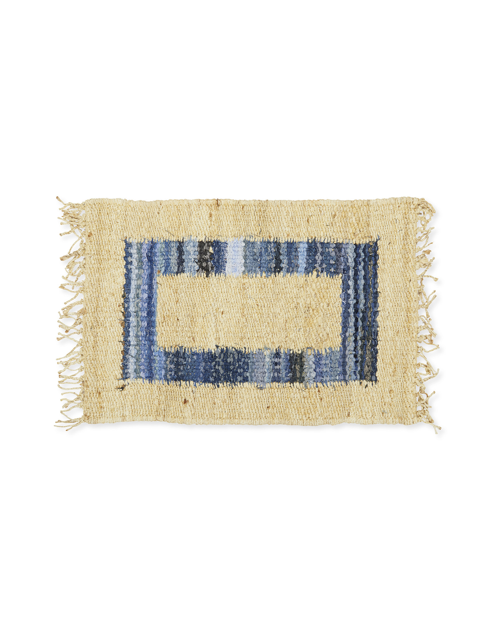 Jute Border Rug, Denim