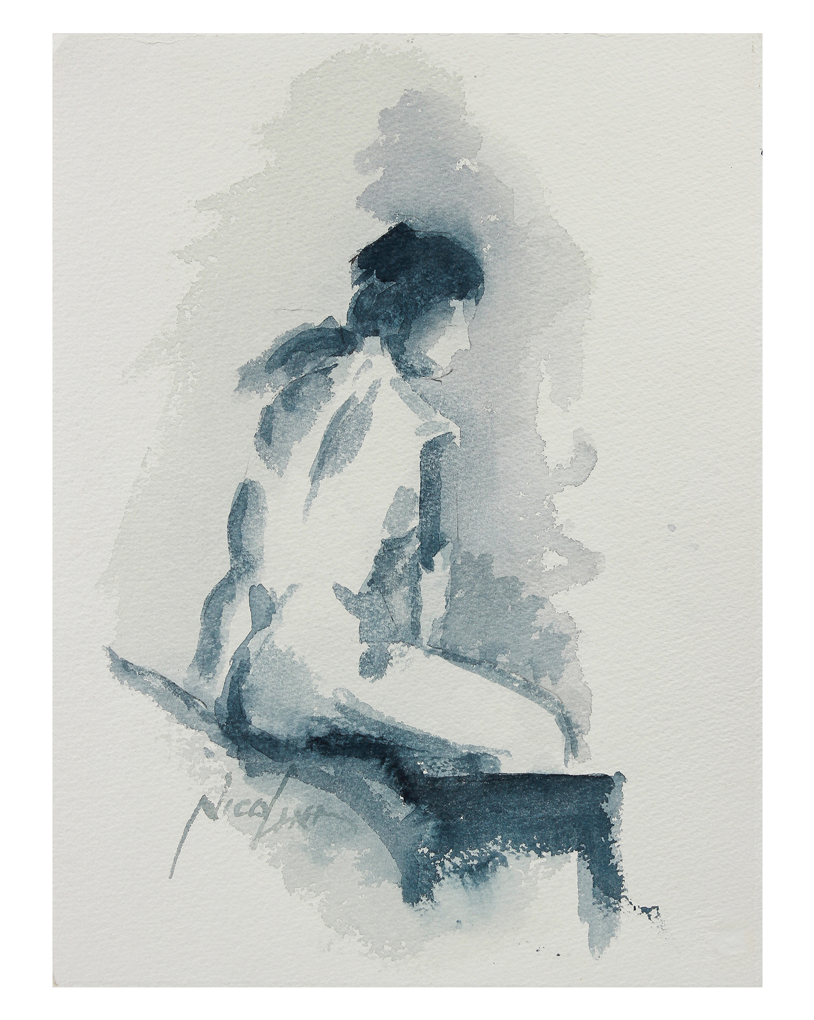 """""""Deconstructed Seated Figure"""" by John Nicolini,"""