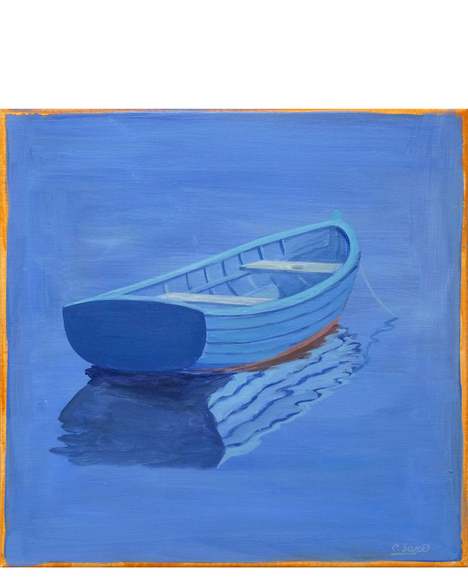 """Blue Boat"" by Carol Saxe"
