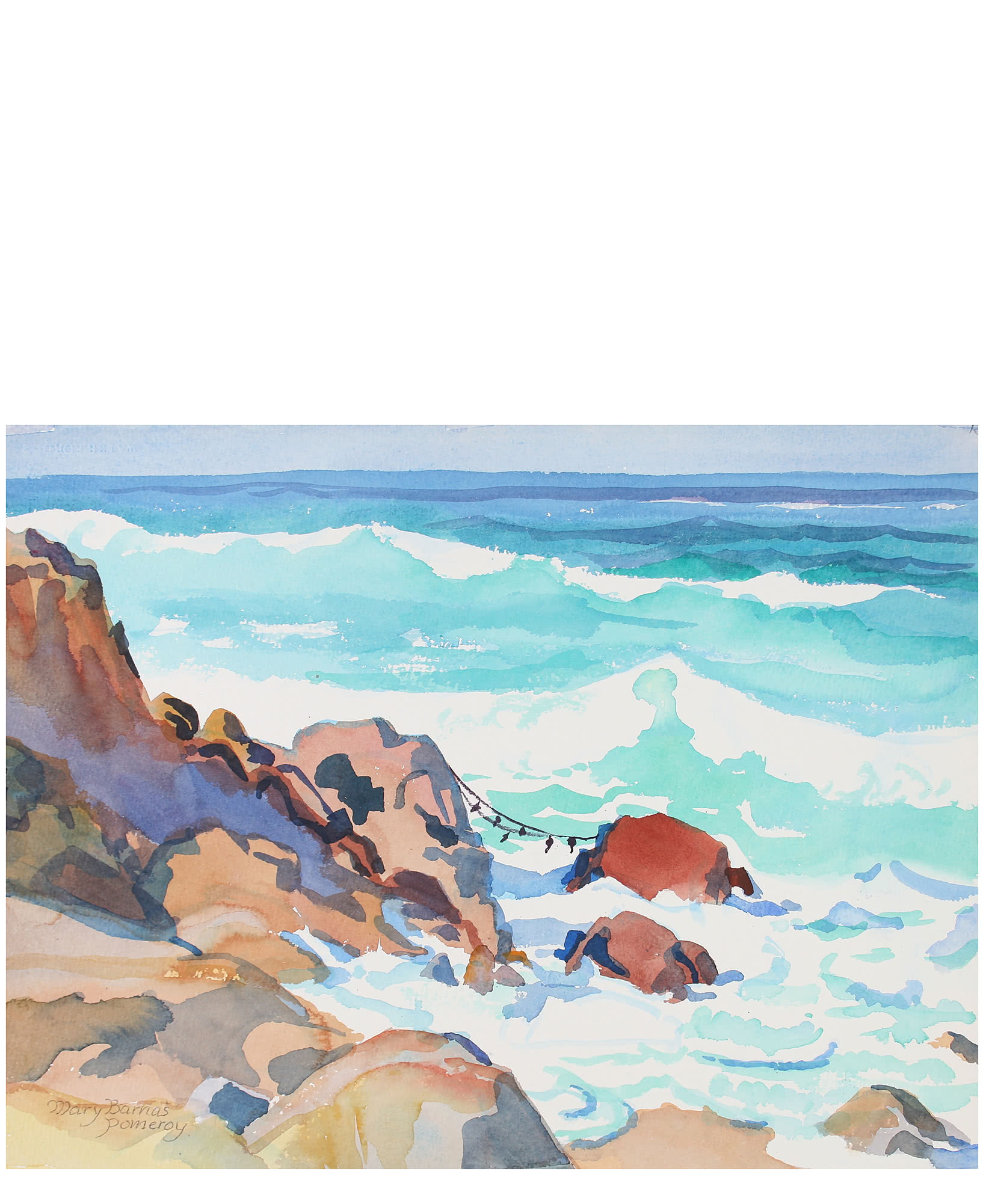 """""""Waves Spectacular, Pacific Grove"""" by Mary Pomeroy,"""