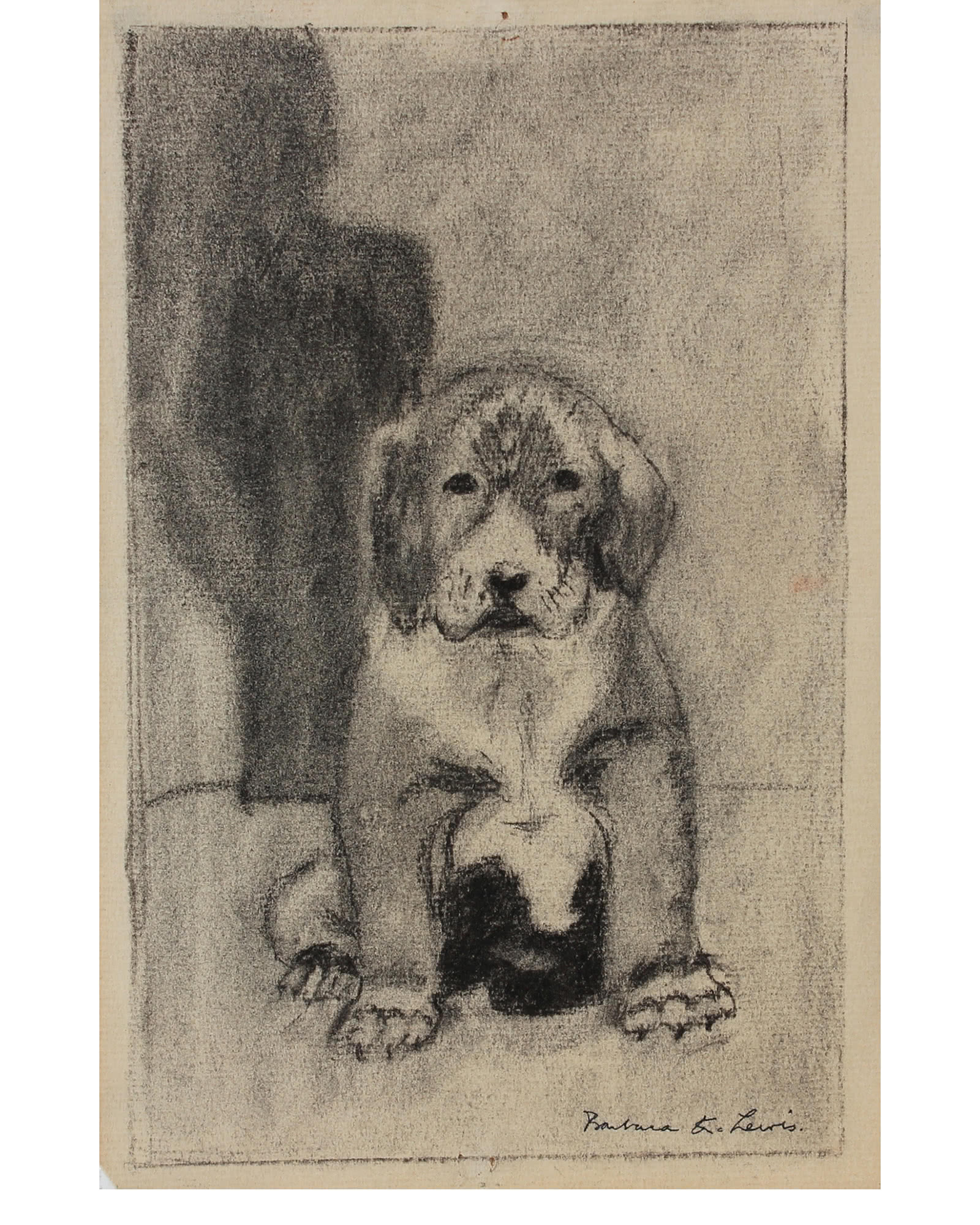"""""""Puppy at Rest"""" by Barbara Lewis,"""
