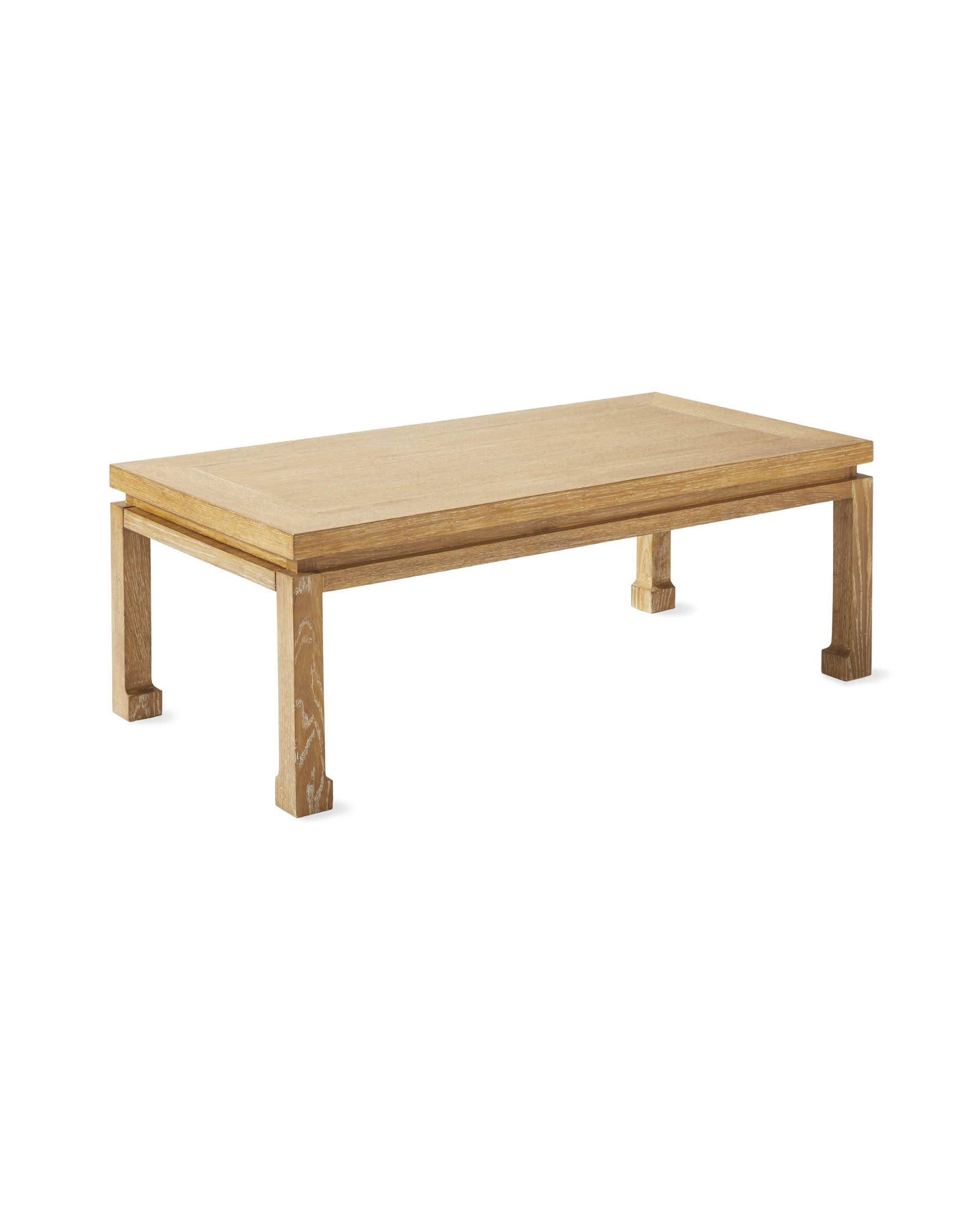 Small Reese Coffee Table, Cerused Oak
