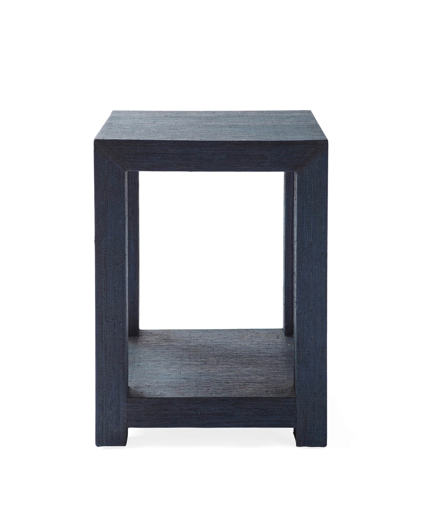 Blake Raffia Side Table, Indigo