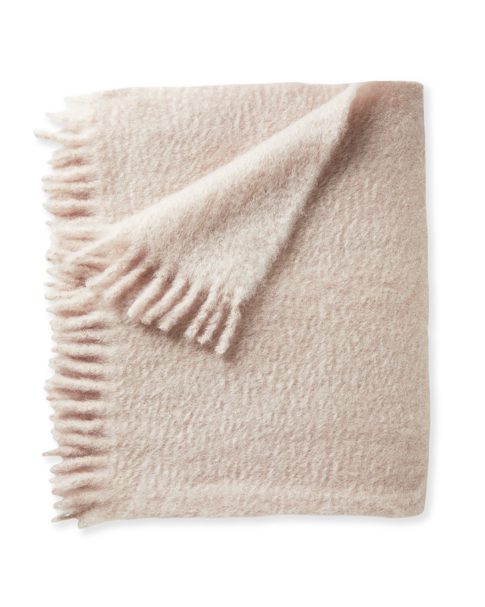 Albion Mohair Throw, Pink Sand