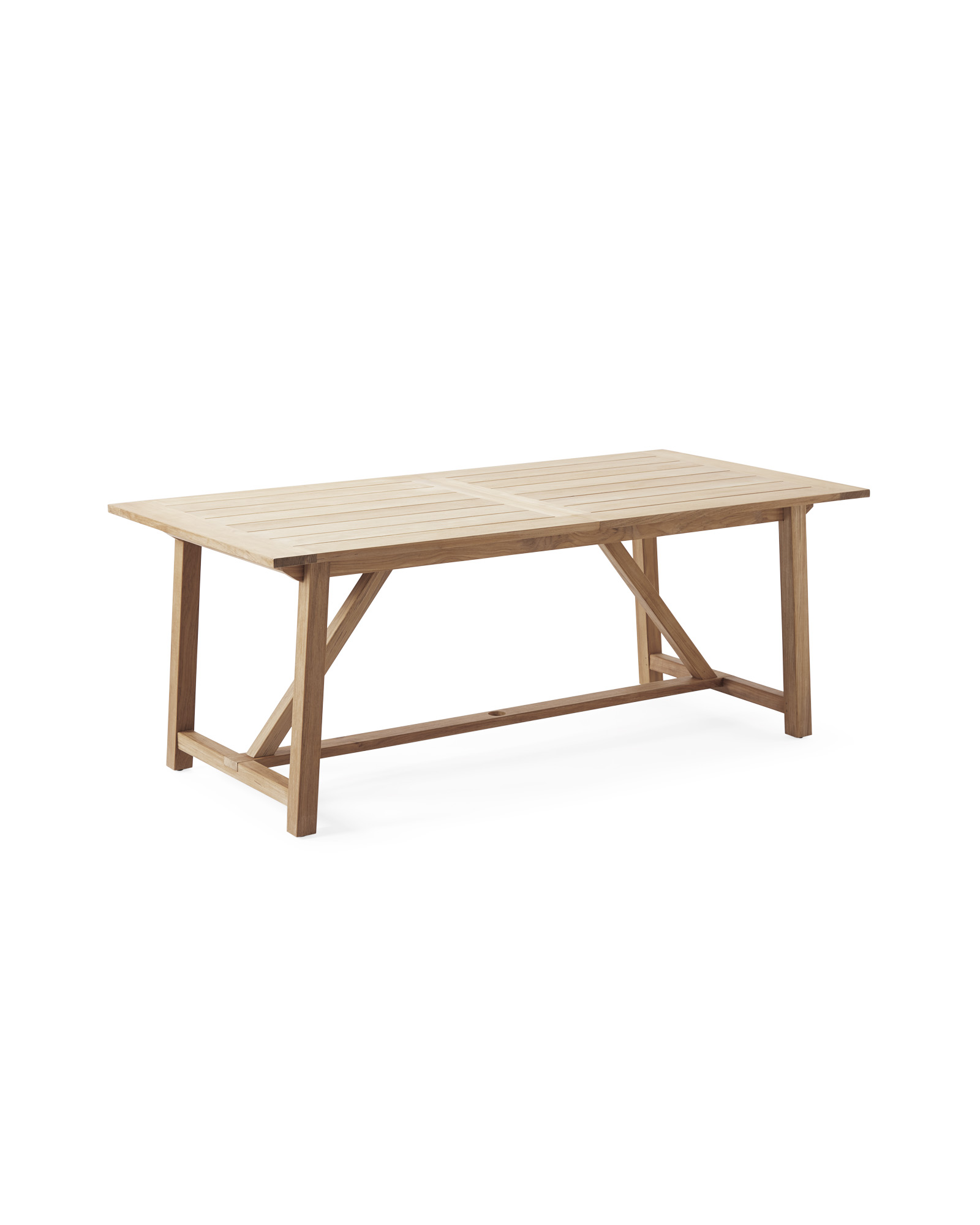 Crosby Teak Expandable Dining Table – Natural,