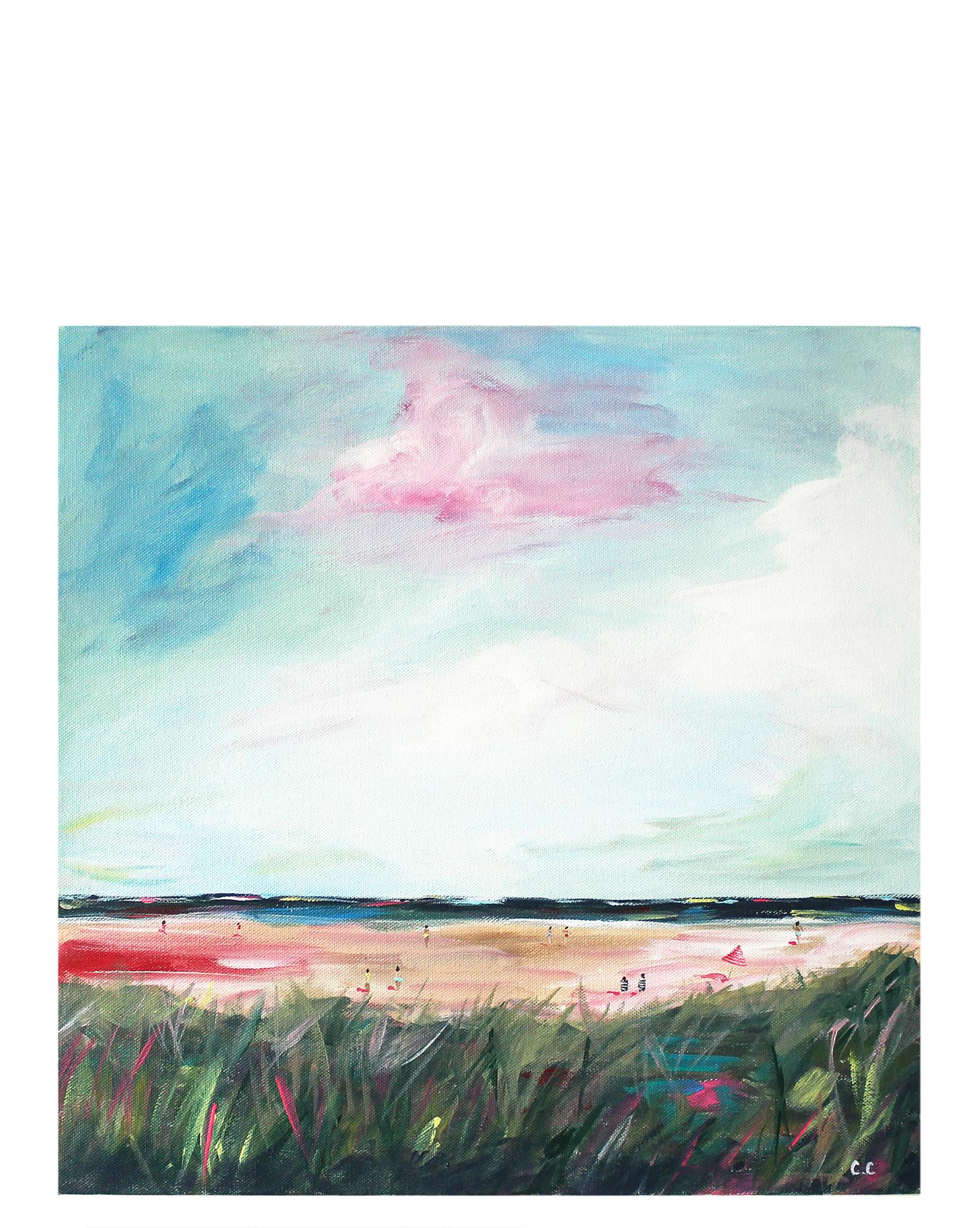 Pink and Green Dream  by Caroline Chriss,