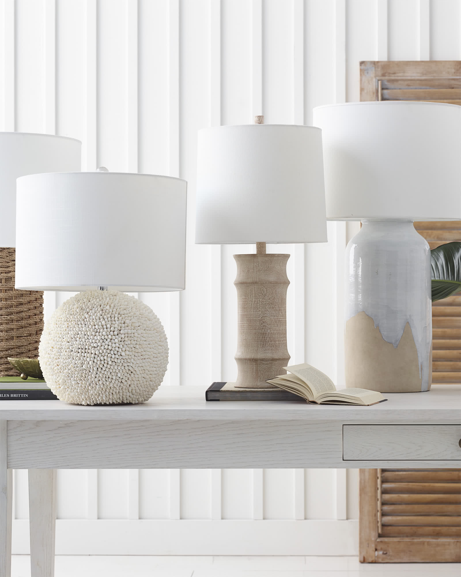 Abbey Table Lamp, White