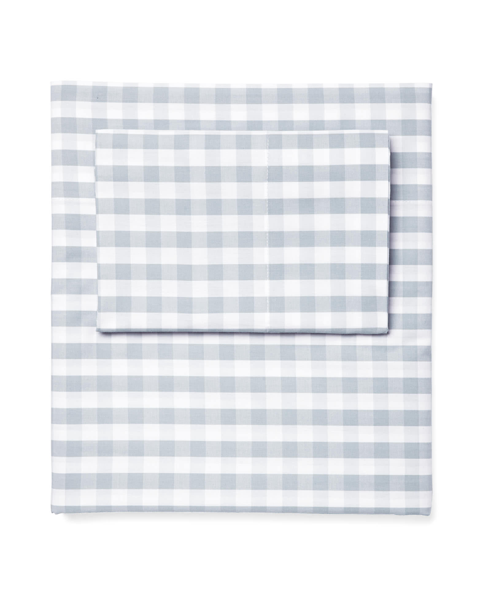 Gingham Sheet Set, Sky