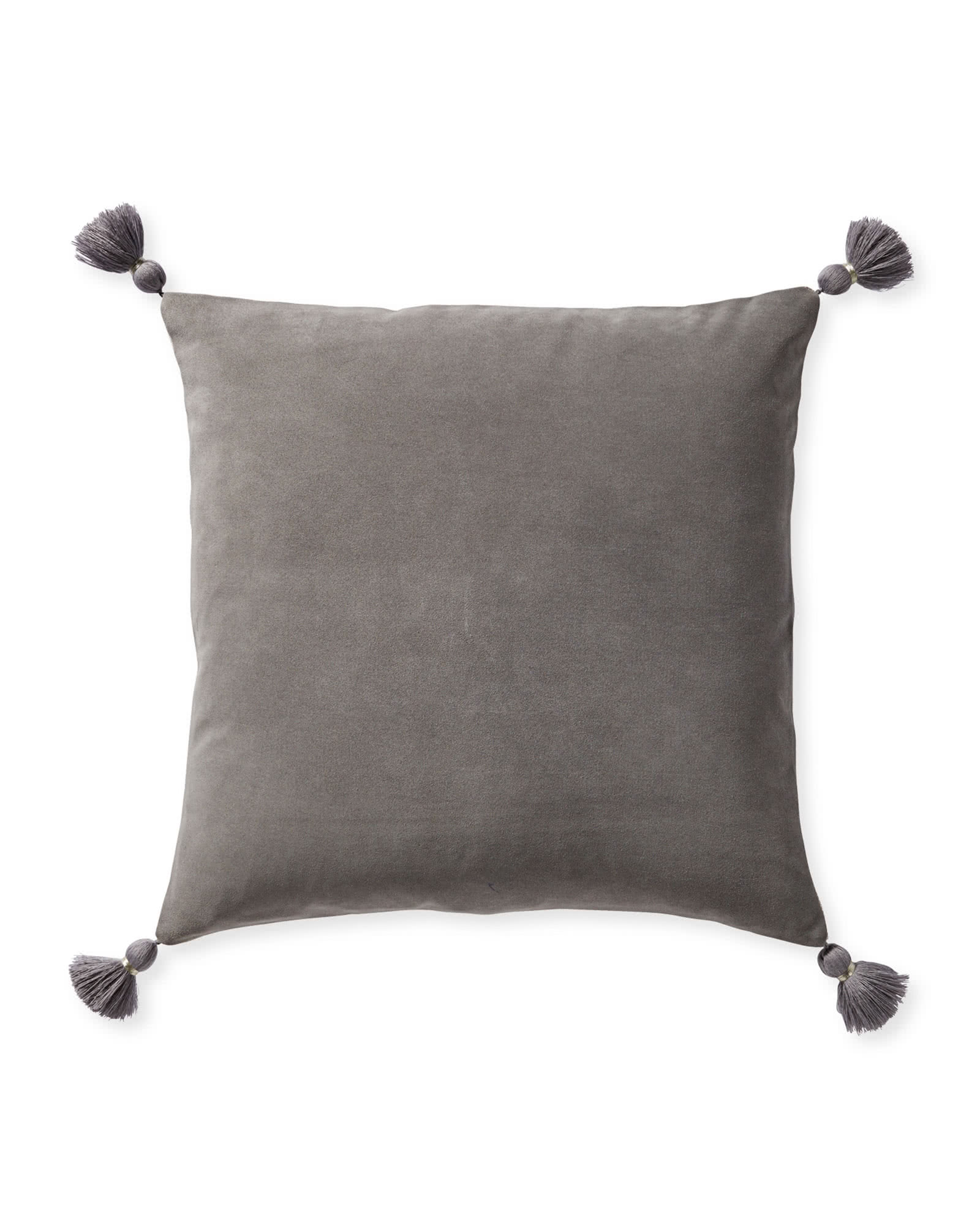 Suede Eva Pillow Cover, Smoke