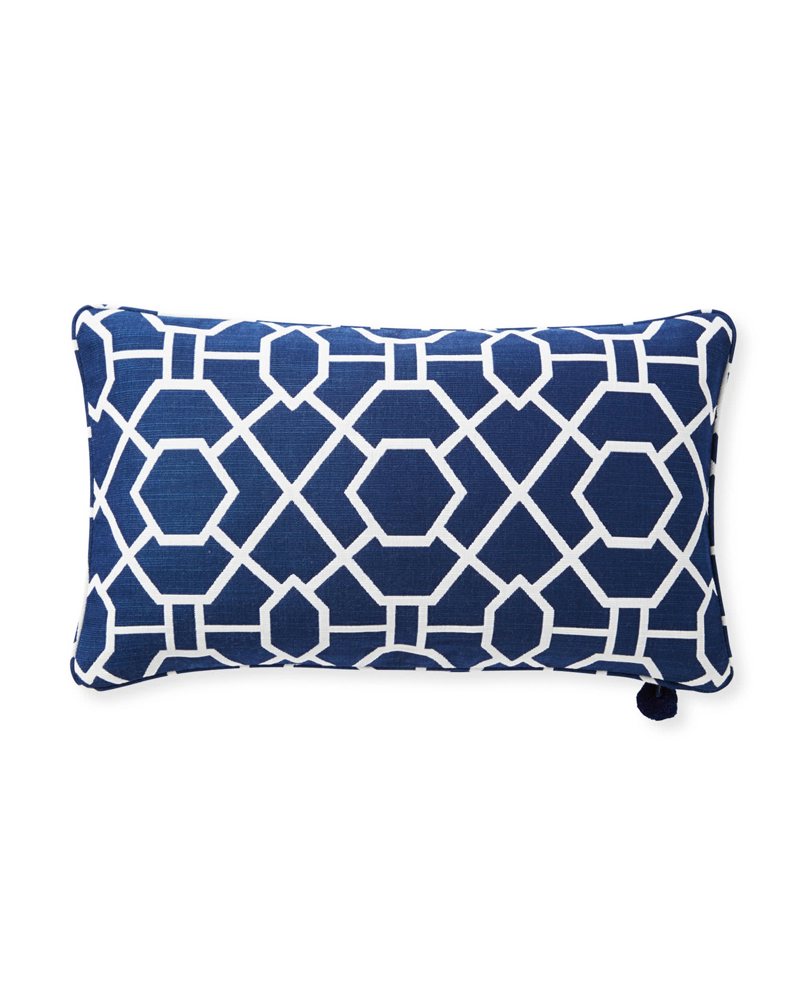 Perennials® Trellis Pillow Cover, Navy