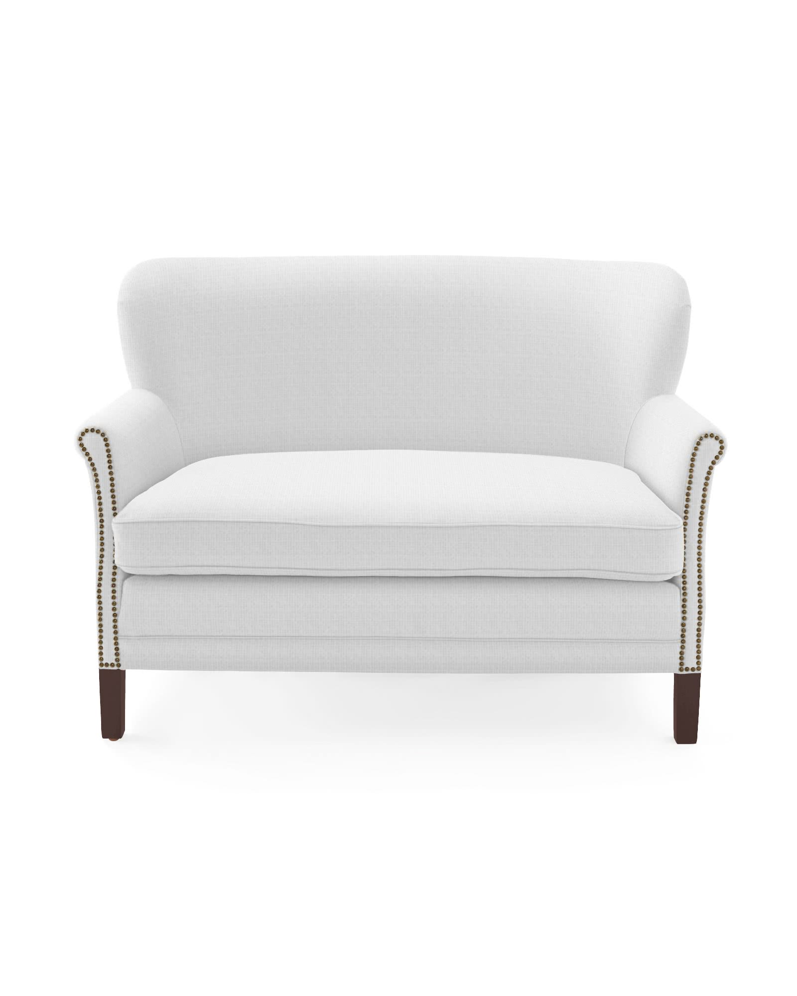 Belgian Club Loveseat with Nailheads,