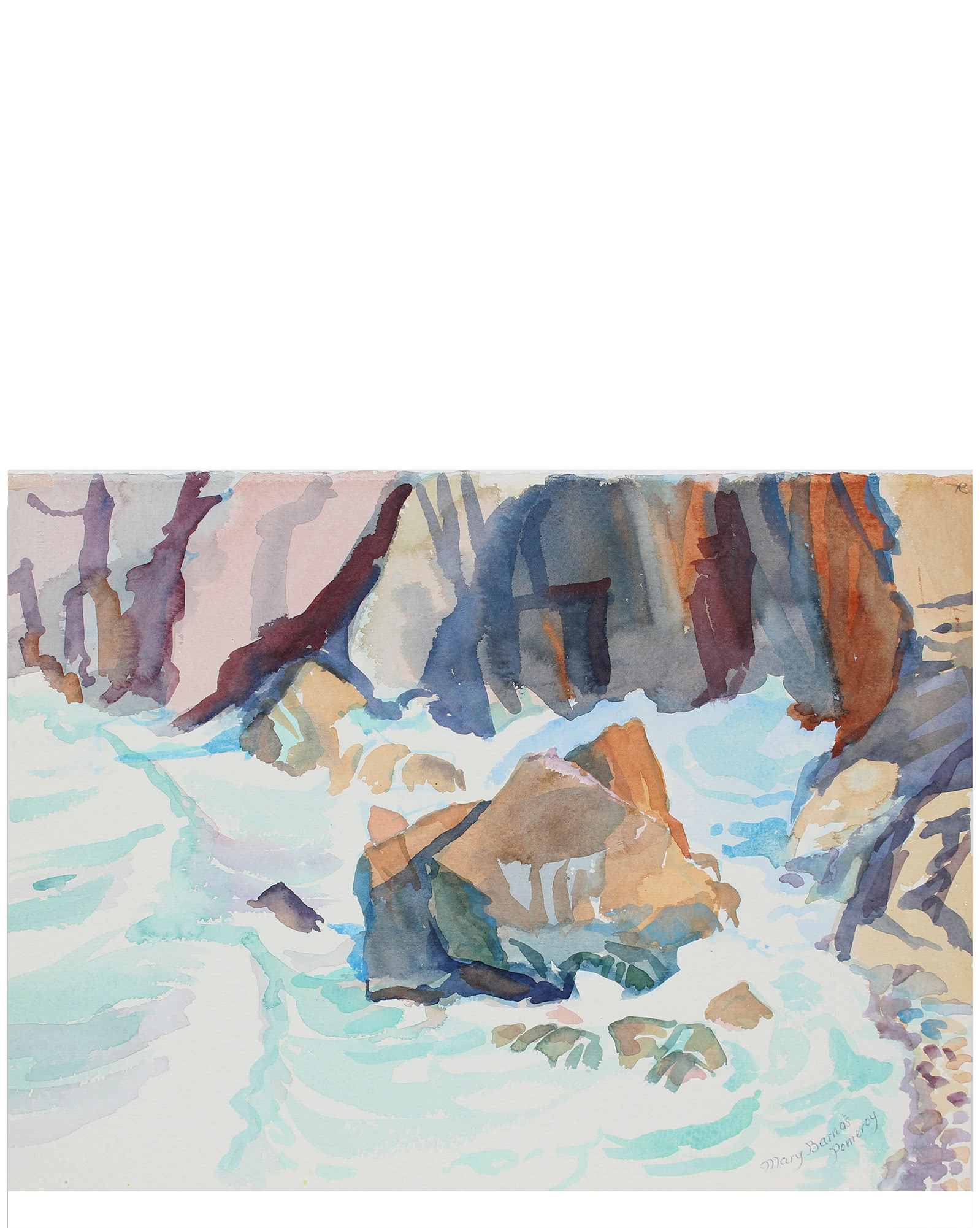 """Base of Sea Cliff"" by Mary Pomeroy,"