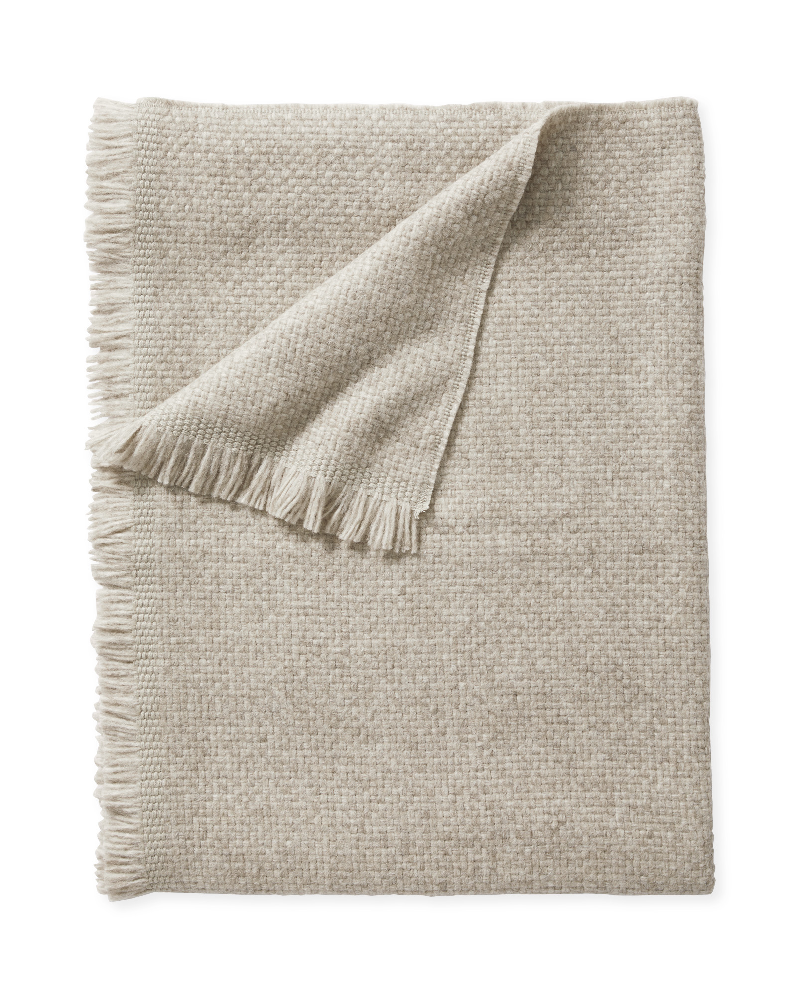 Milo Alpaca Throw, Oatmeal