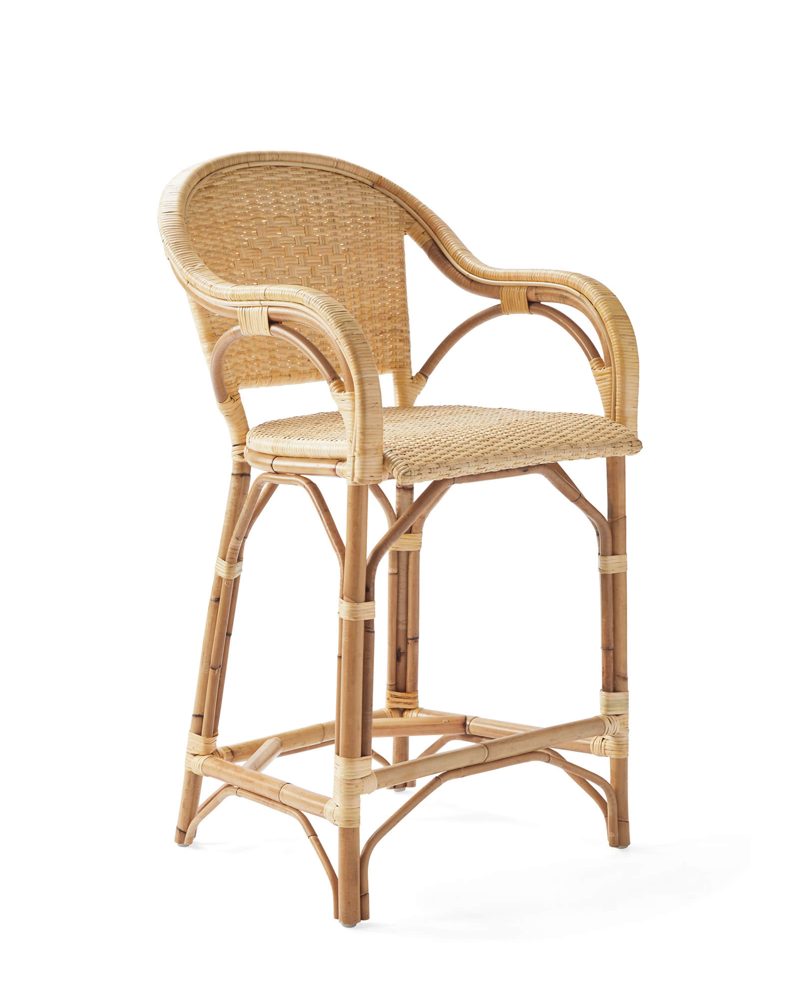 Sunwashed Riviera Classic Counter Stool, Natural