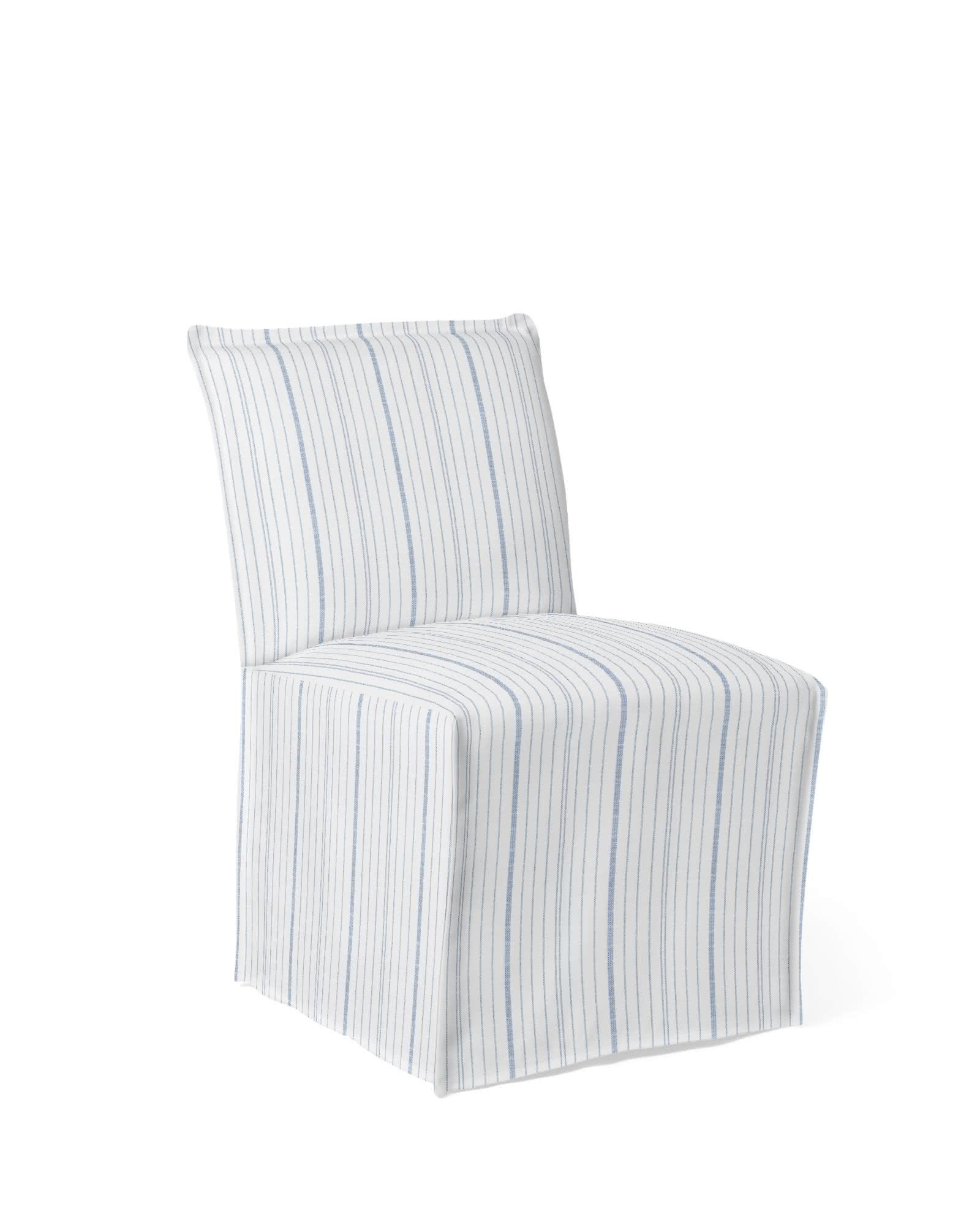 Sundial Outdoor Side Chair - Performance Navy Surf Stripe,