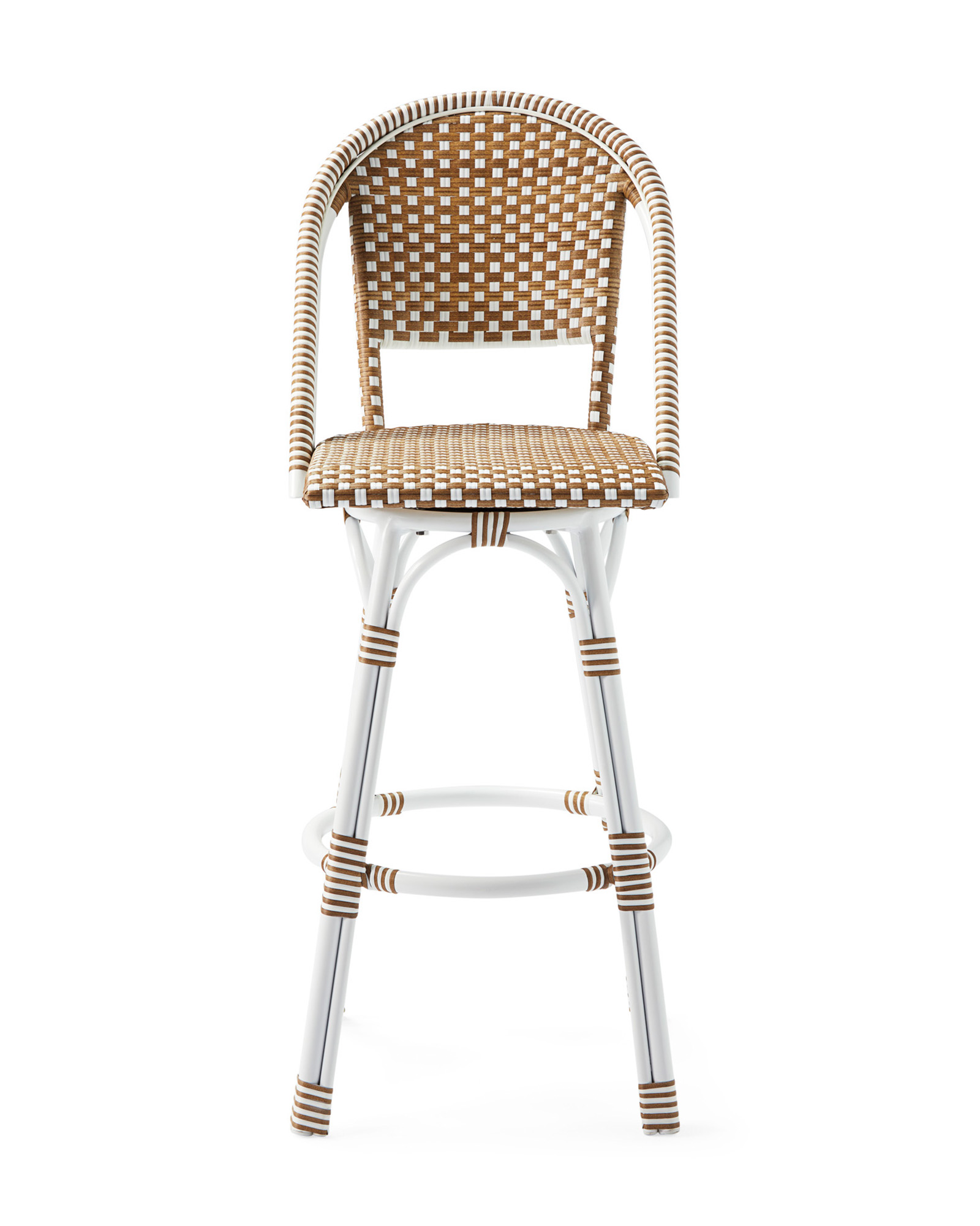Outdoor Riviera Swivel Barstool, Dune