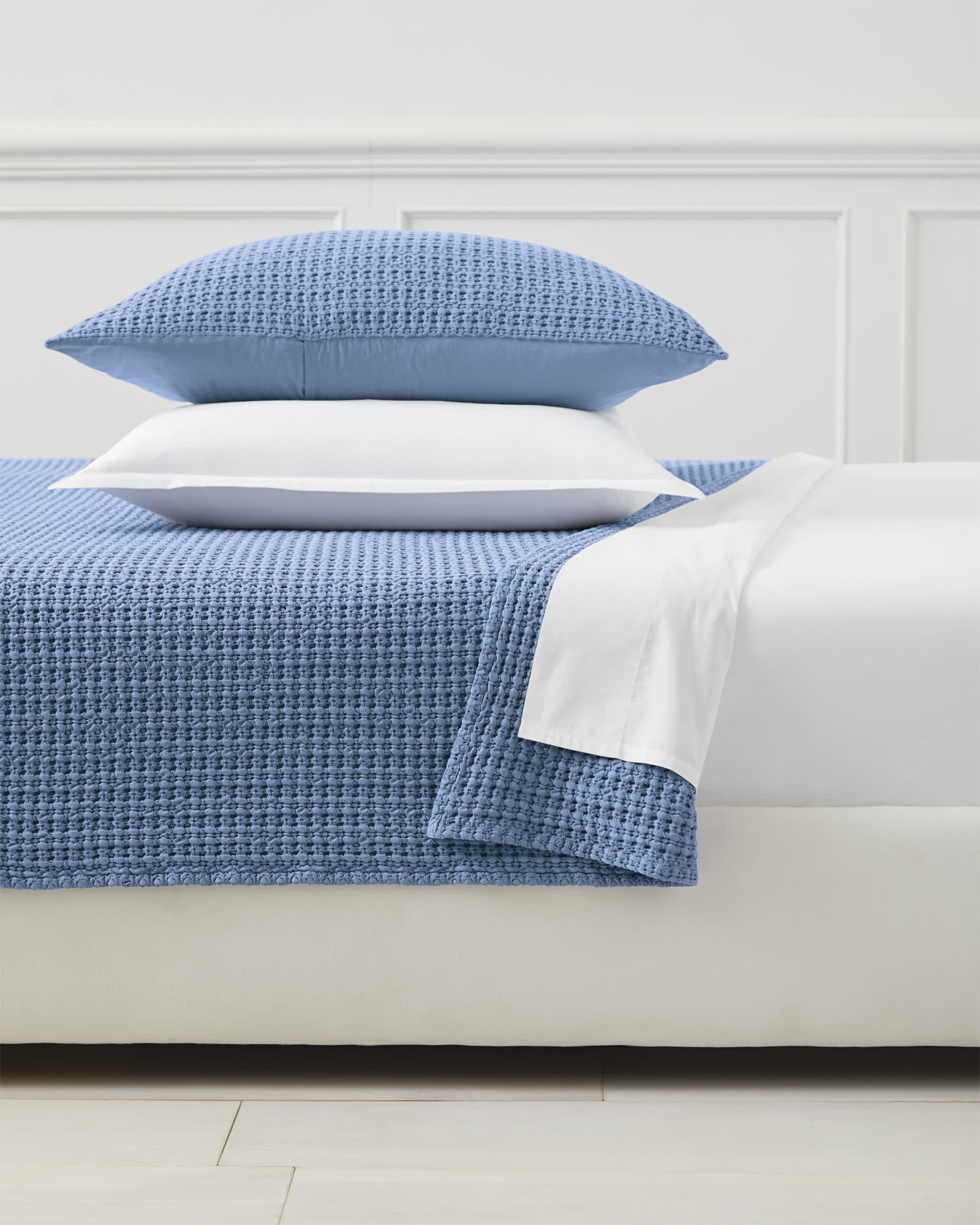 Montauk Coverlet, French Blue