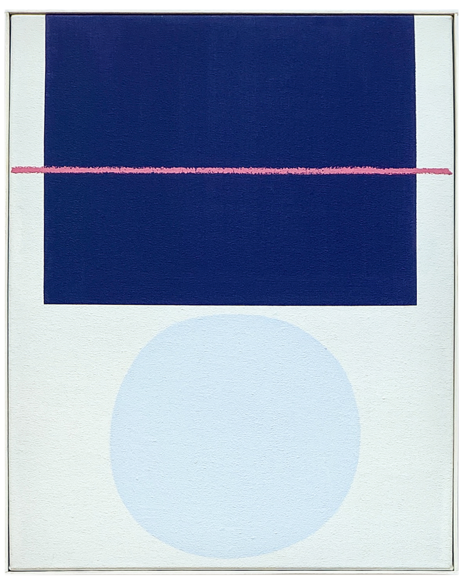 """""""Blues with Pink Line"""" by Laurie Fisher,"""