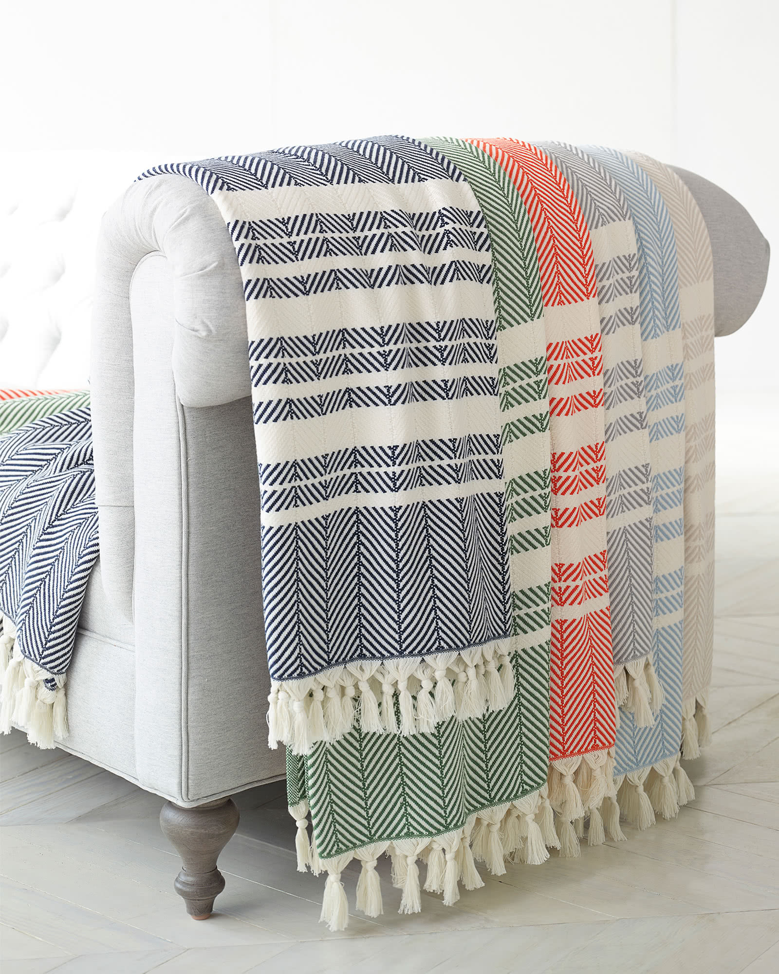 Palermo Cotton Throw, Papaya