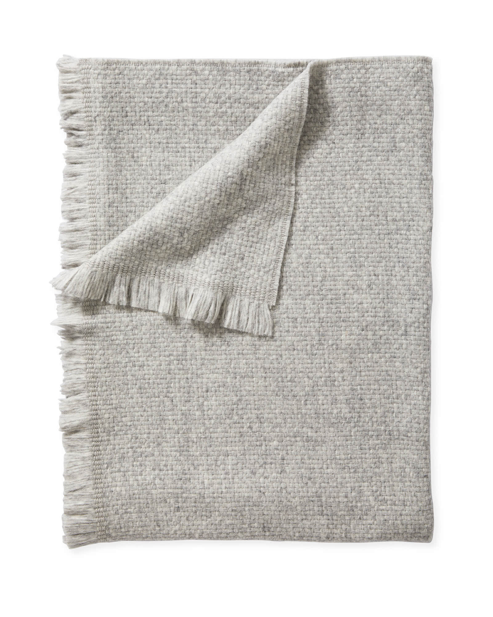 Milo Alpaca Throw, Fog