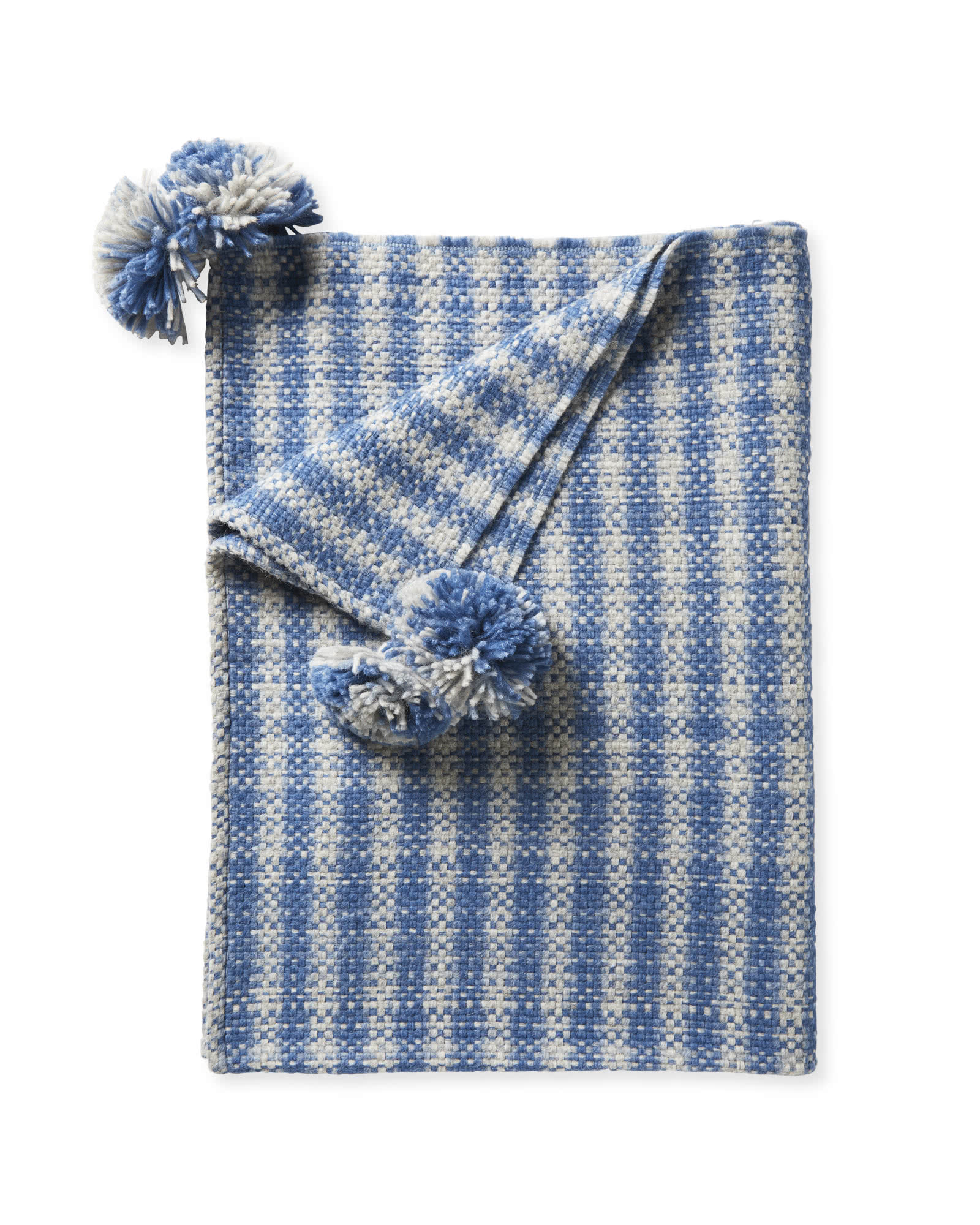 West Shore Alpaca Throw, Coastal Blue