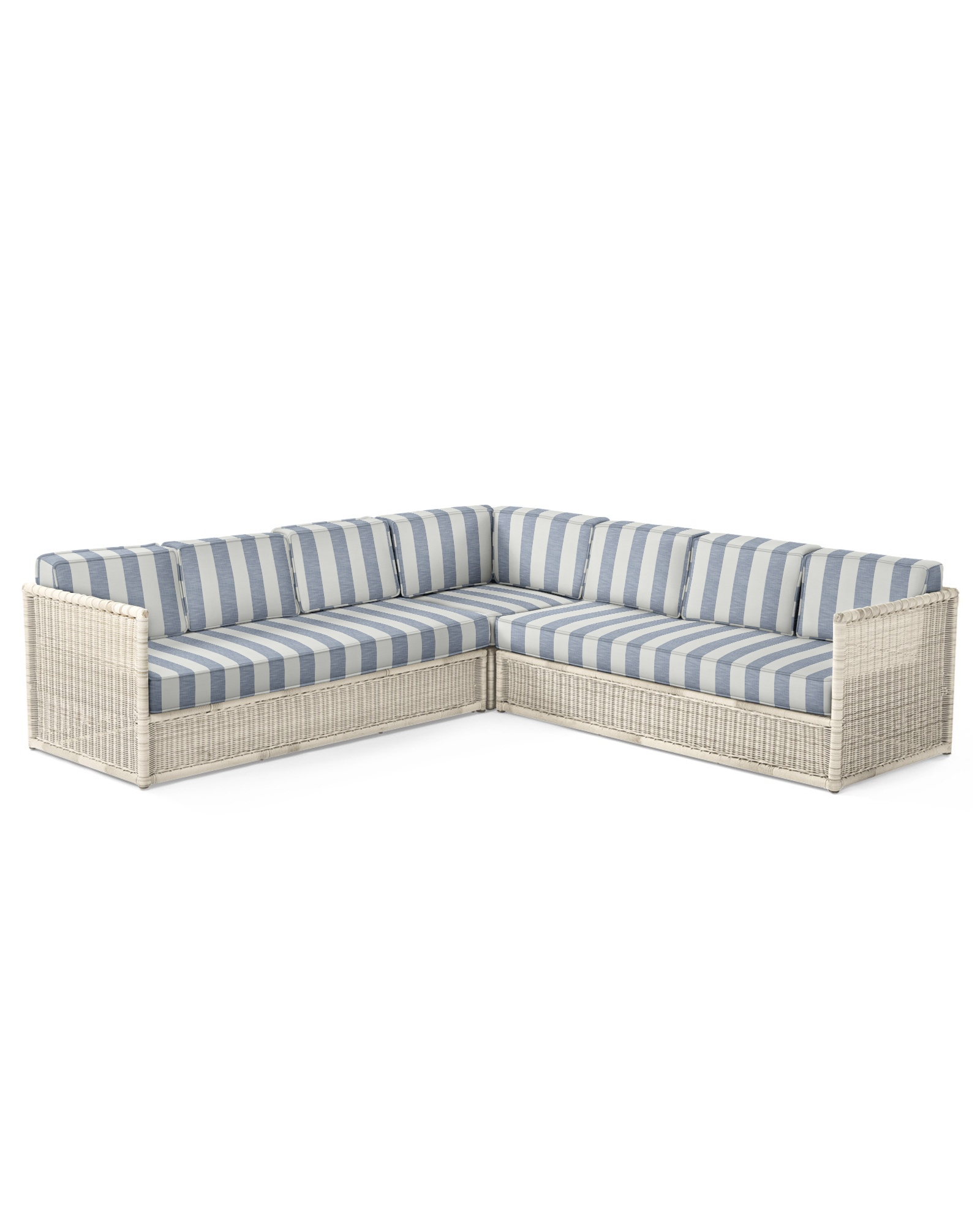 Cushion Cover for Pacifica Corner Sectional, Beach Stripe Navy