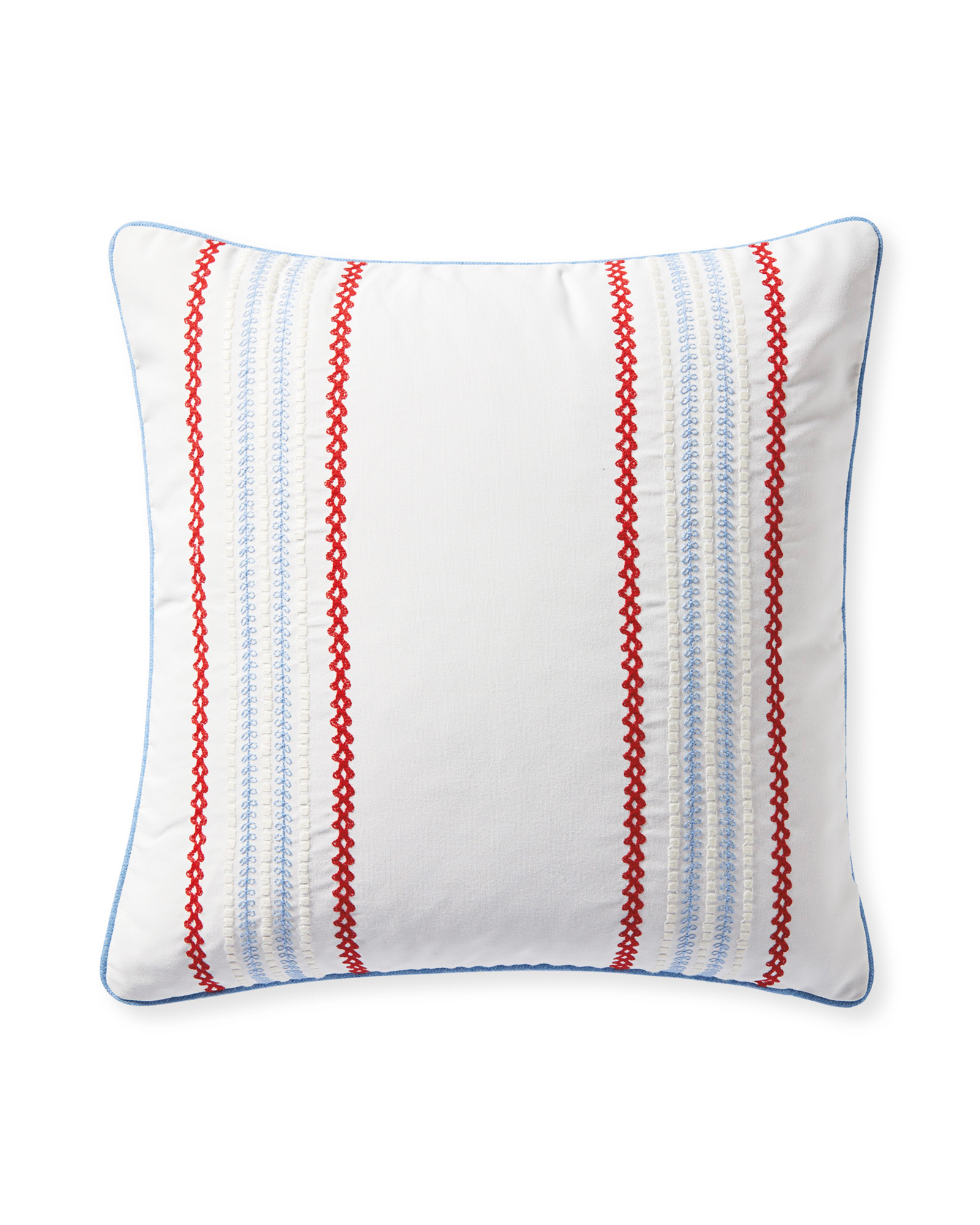 Sunbrella® Aveiro Pillow Cover, Poppy/Coastal