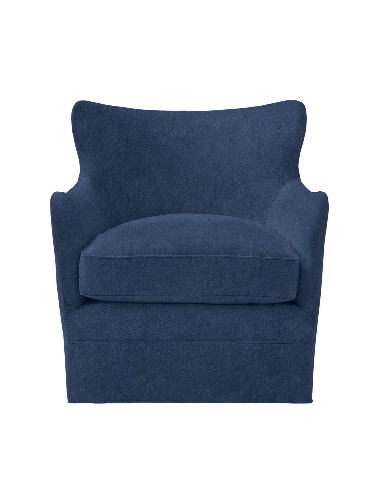 Elm Swivel Chair - Cottswald Leather Navy,
