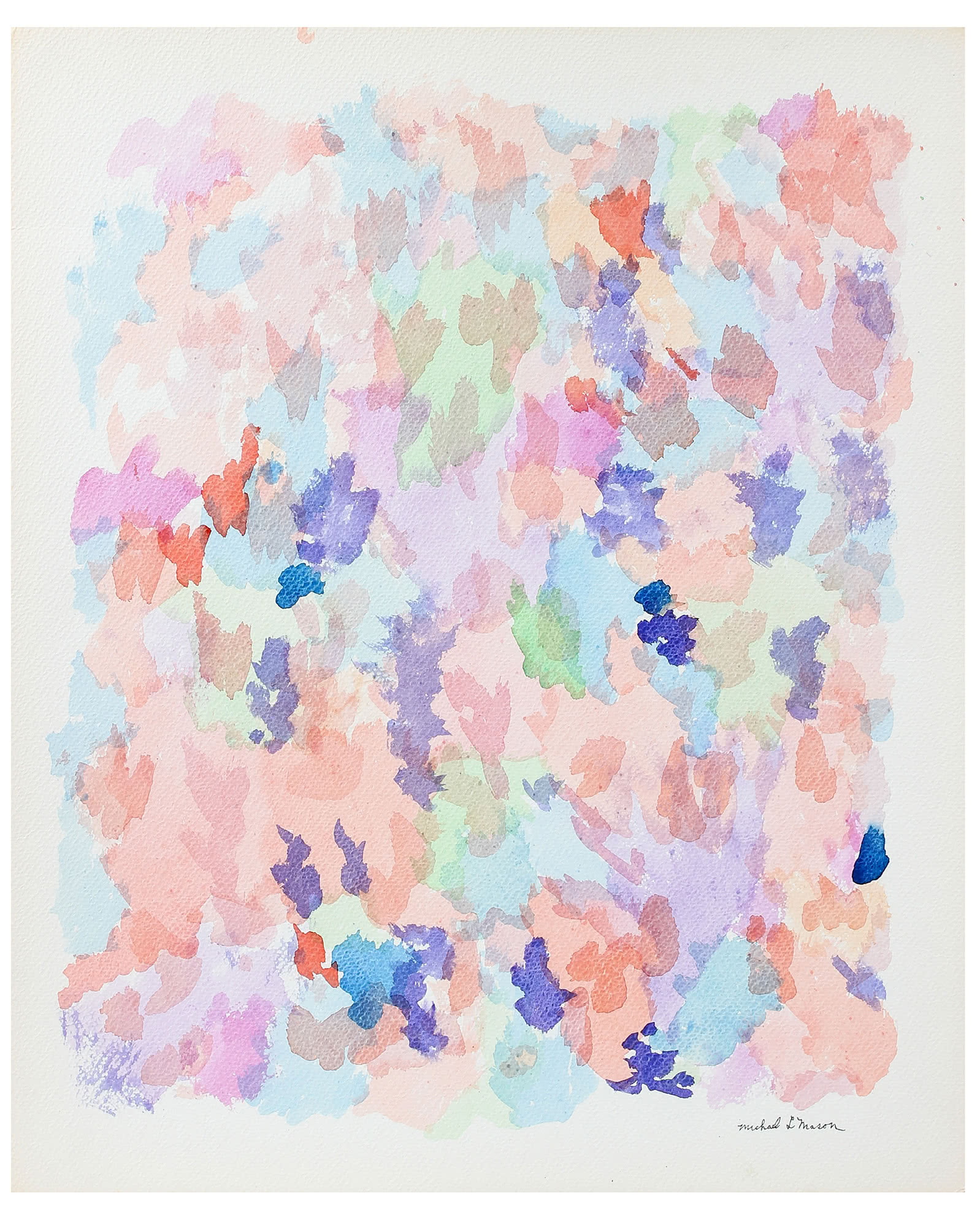 """Pastel Floral Abstraction"" by Michael L. Mason,"