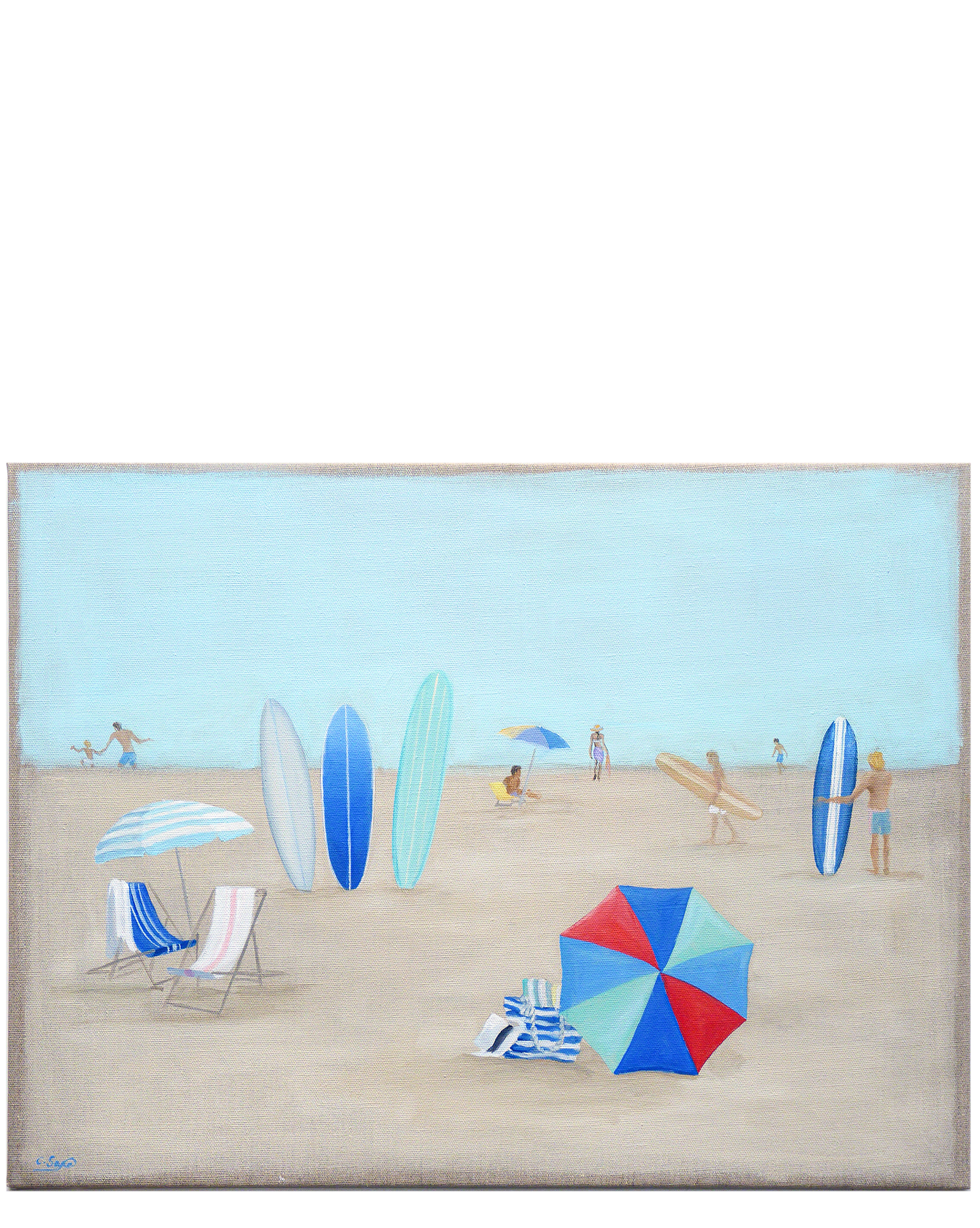 """"""" Day at the Beach"""" by Carol Saxe,"""