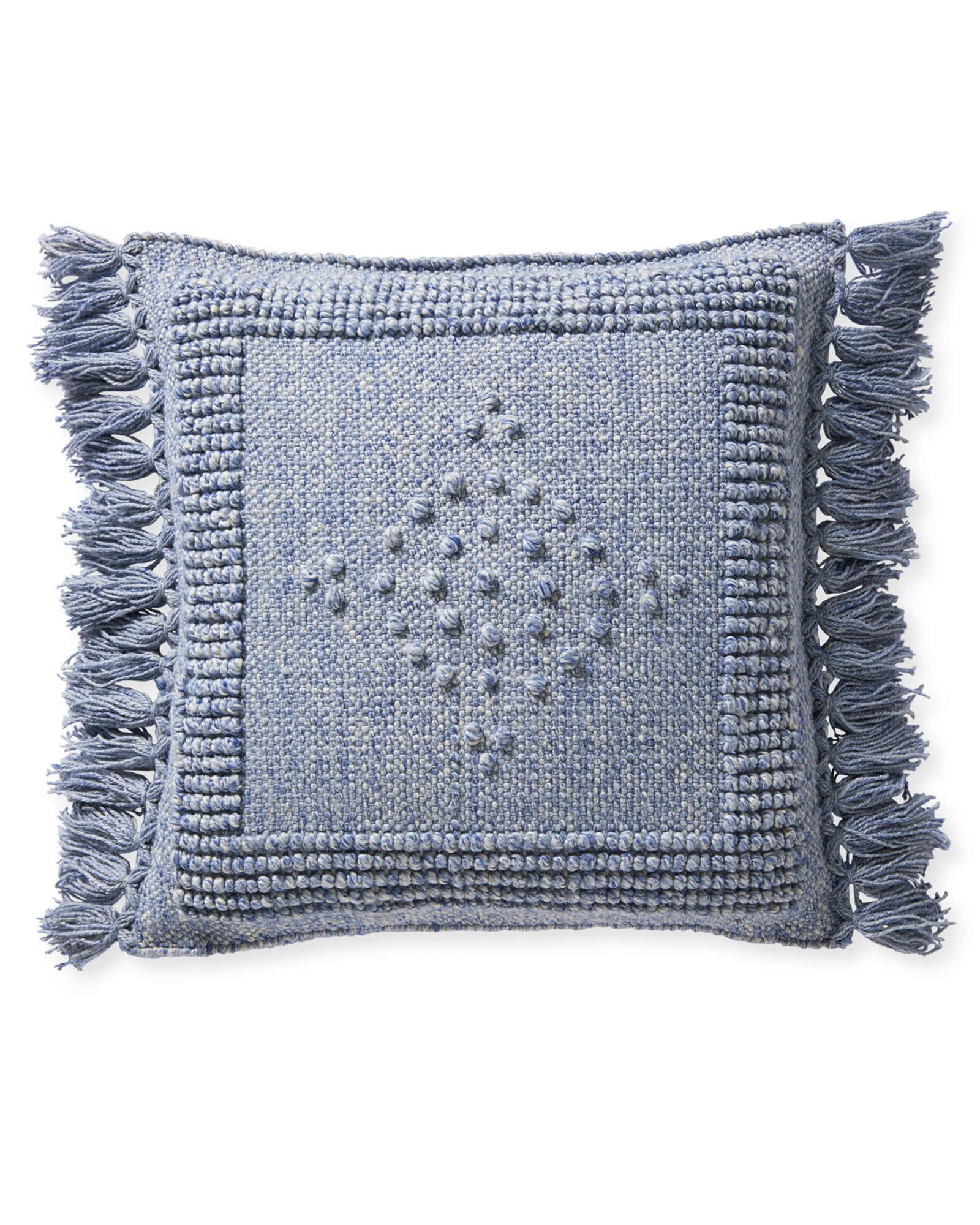 Montecito Pillow Cover, Coastal Blue