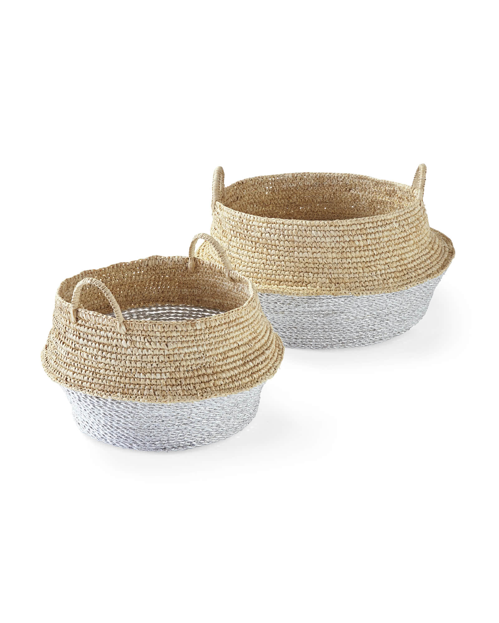 Round Belly Baskets (Set of 2),