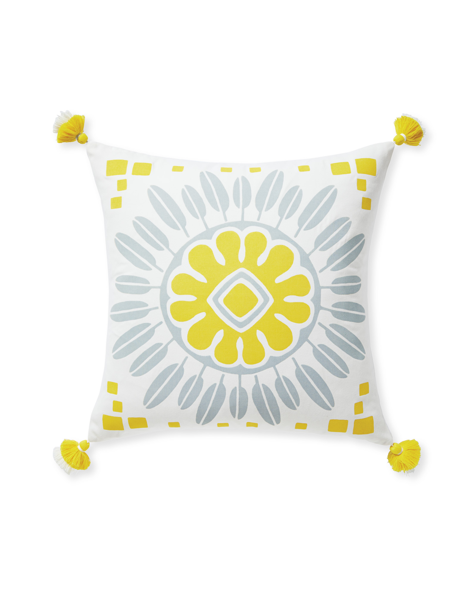 Campania Medallion Pillow Cover, Canary
