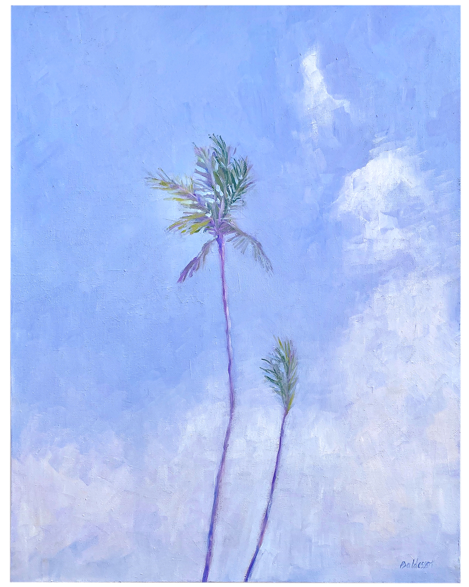 """Sky Blue Palm"" by Donna Baldassari,"