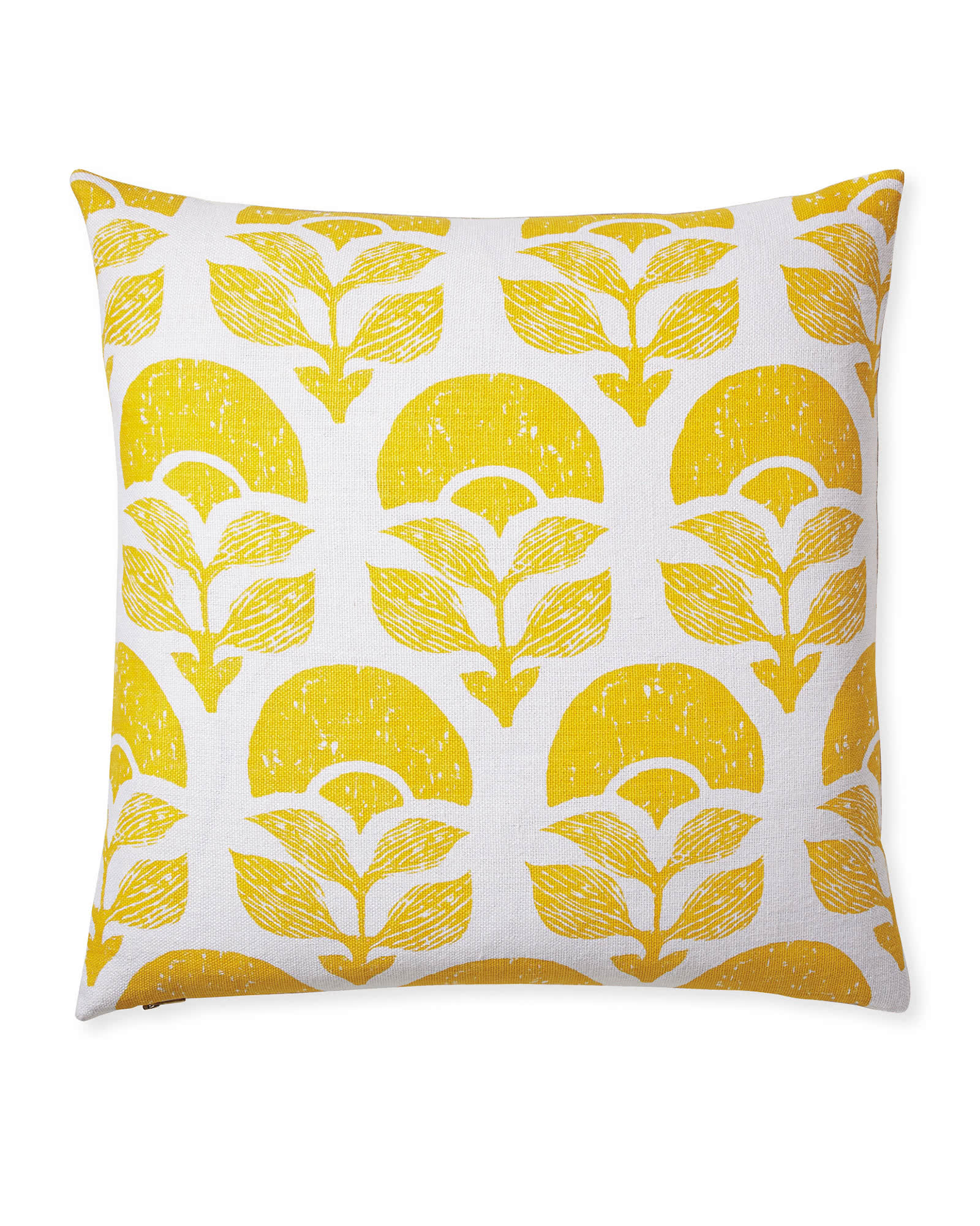 Larkspur Printed Pillow Cover, Canary