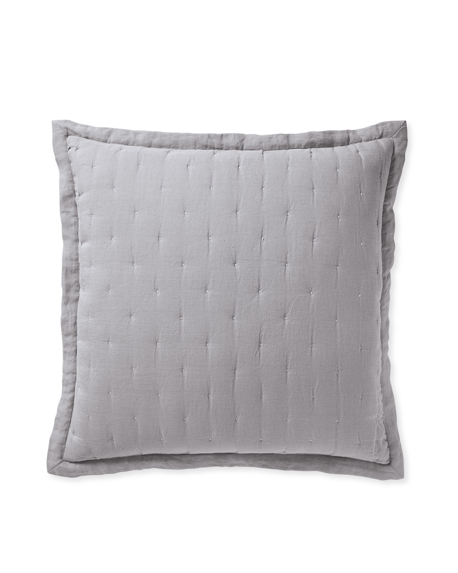 Sutter Quilted Shams, Smoke