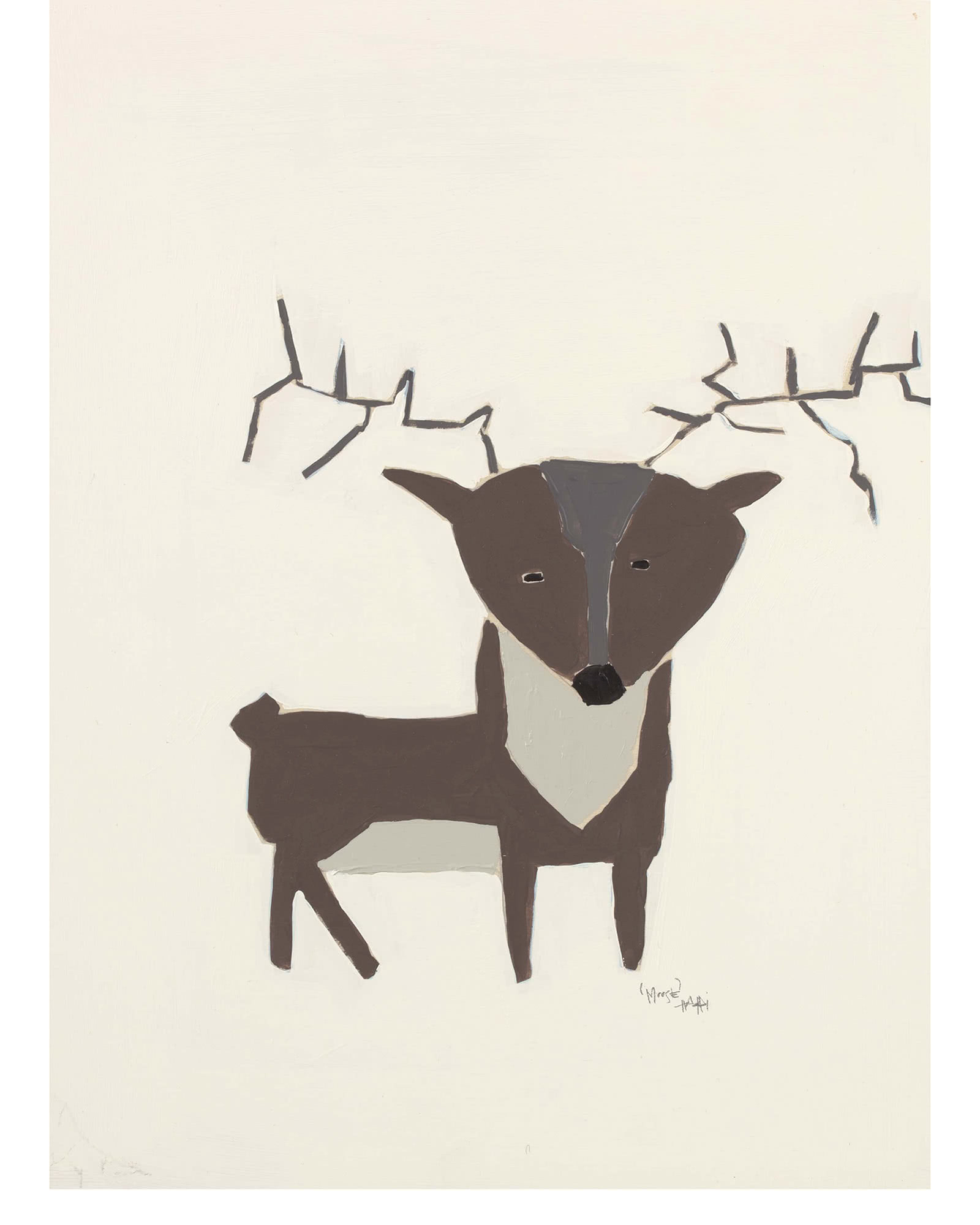 """Woodland Moose"" by Holly Addi,"